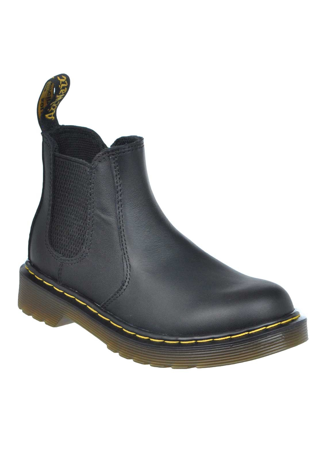 Dr. Martens AirWair Kids Leather Ankle Boots, Black