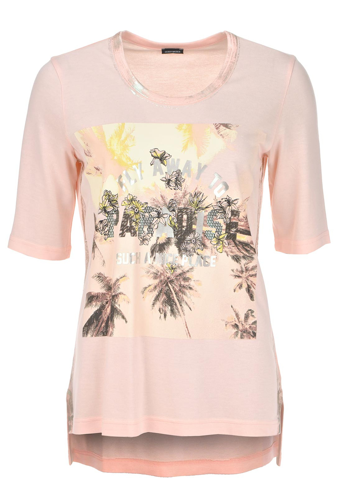 Gerry Weber Tropical Graphic Print Top, Pink