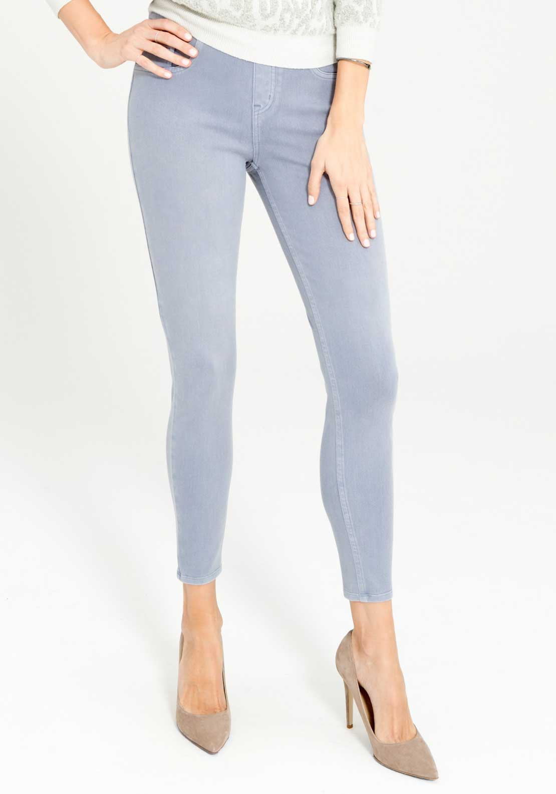 Spanx Cropped Indigo Knit Cropped Jeggings, Blue Tide