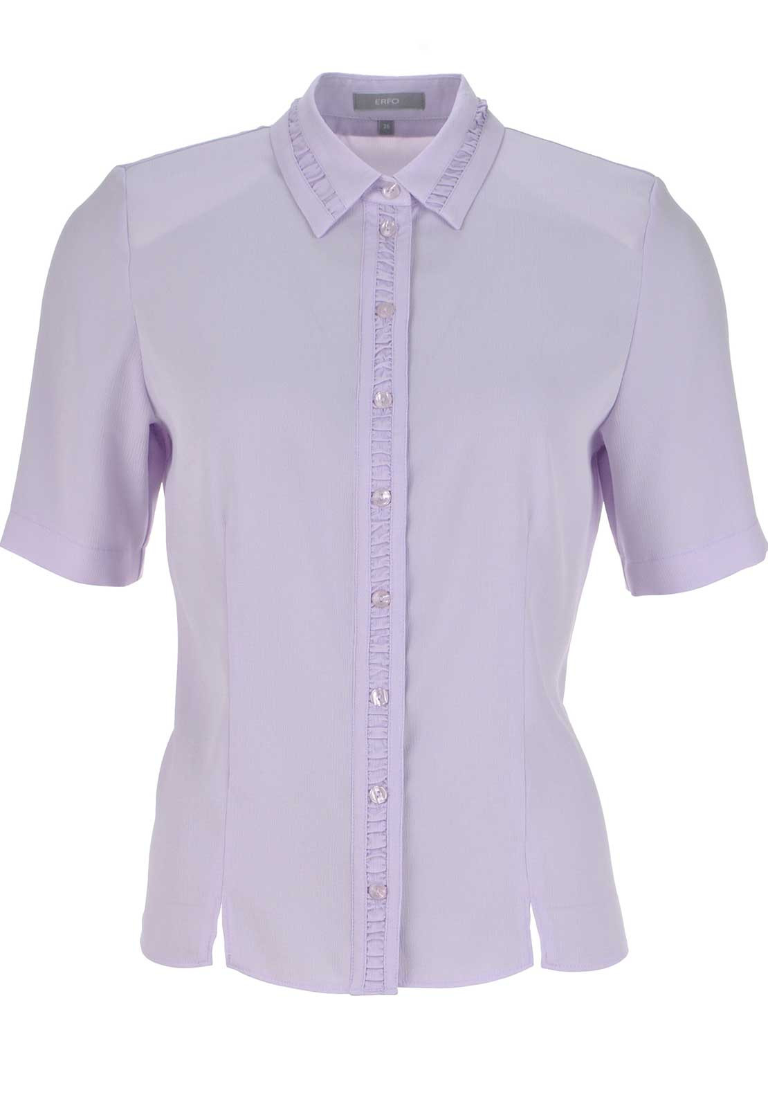 ERFO Textured Short Sleeve Blouse, Lilac