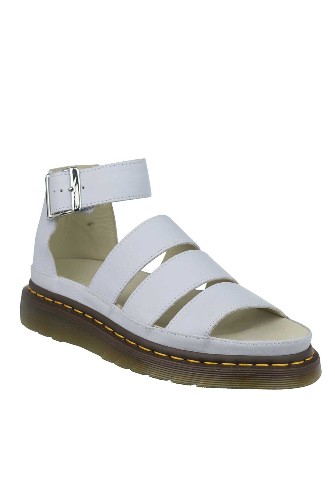 Dr. Martens Womens Clarissa Chunky Strap Leather Sandals, Powder Blue
