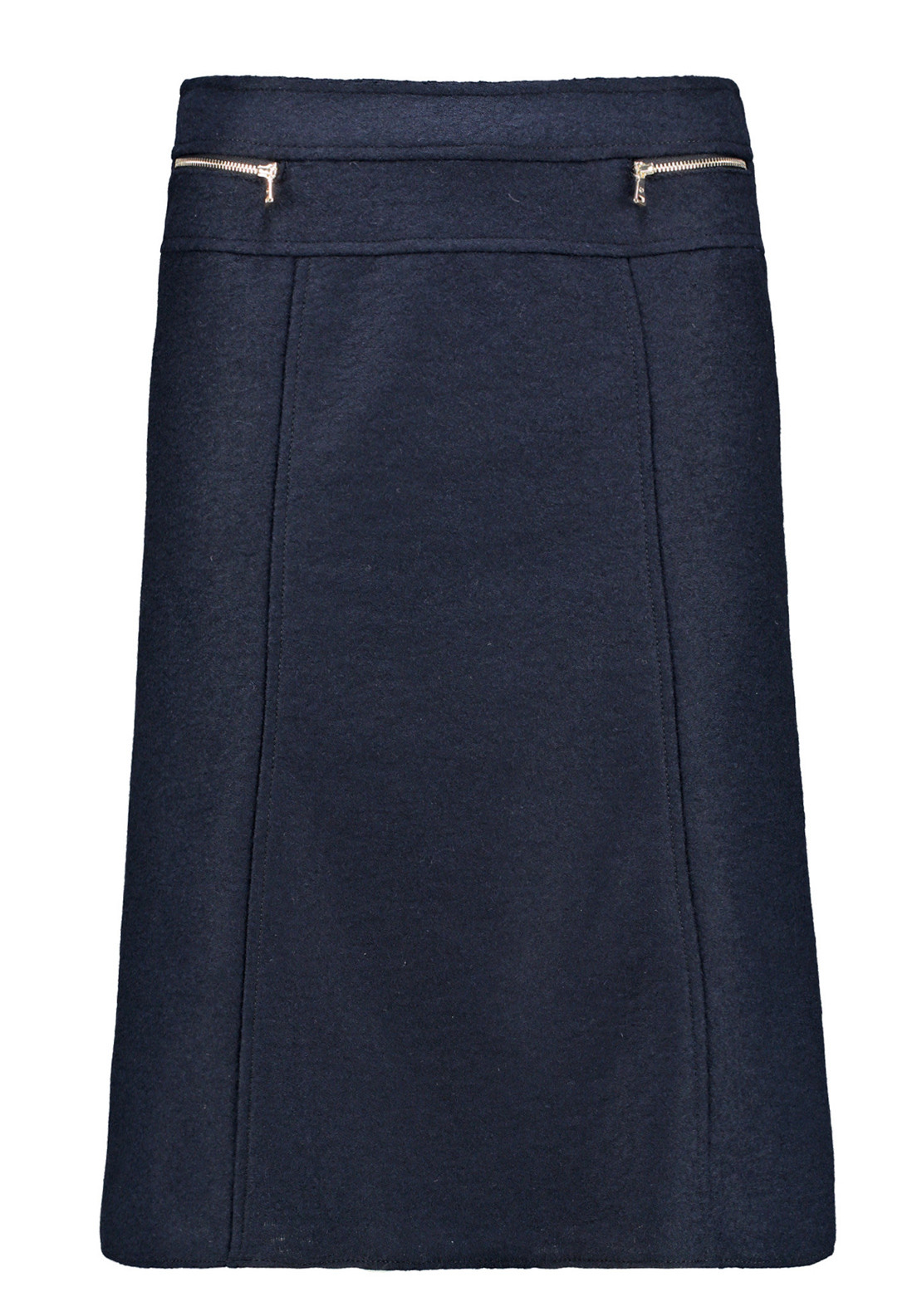 Gerry Weber Wool Blend Flared Midi Skirt, Navy
