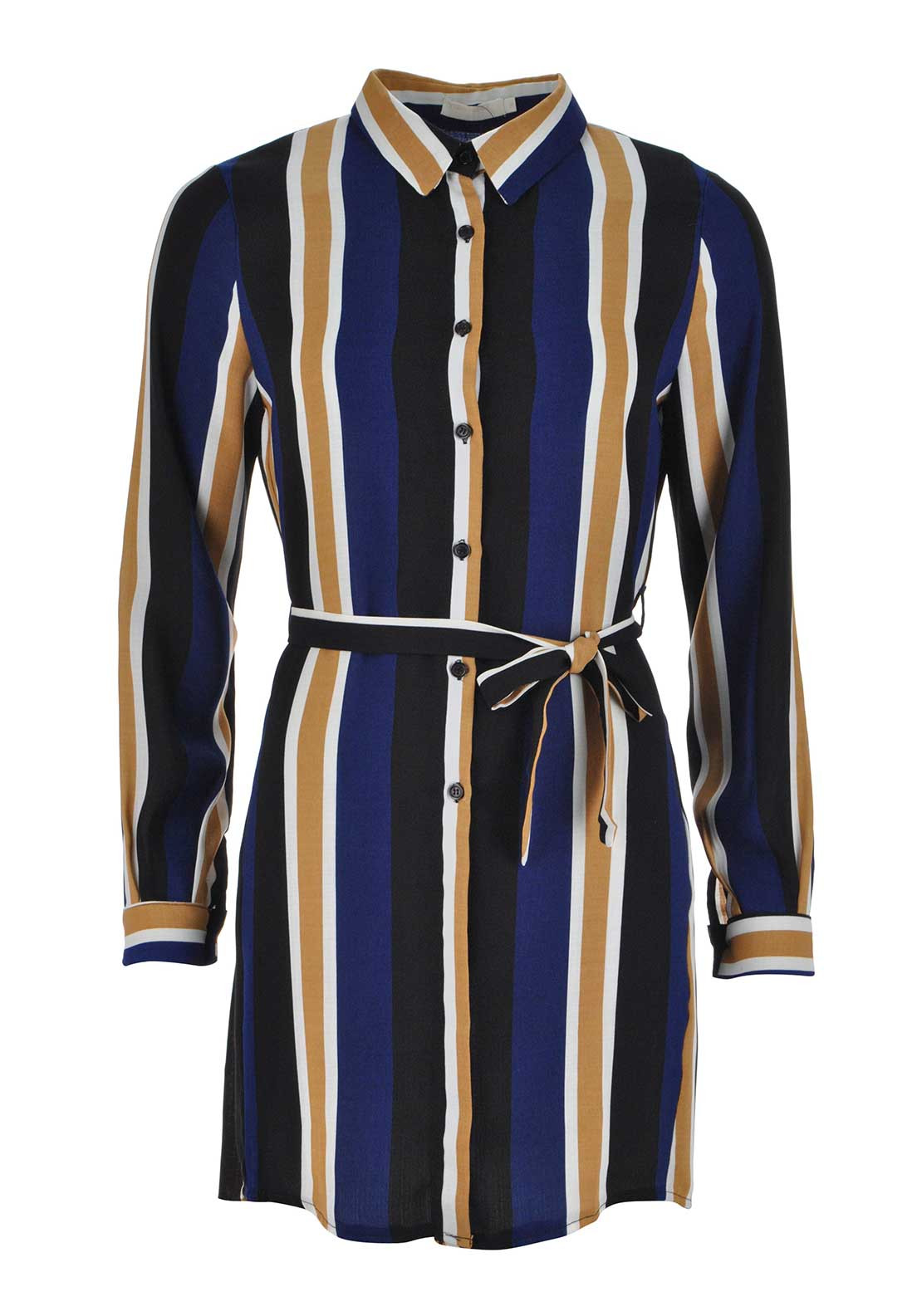 Boutique Striped Shirt Dress, Multi-Coloured