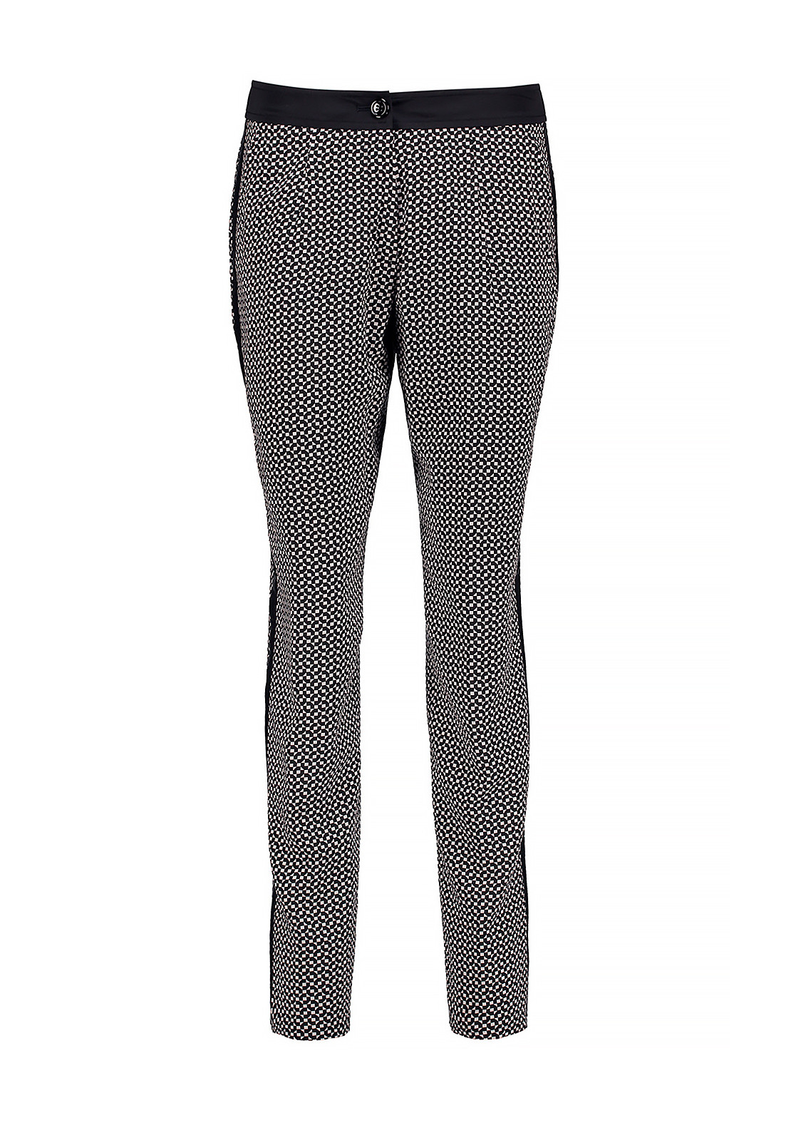 Gerry Weber Patterned Trousers, Black and Cream