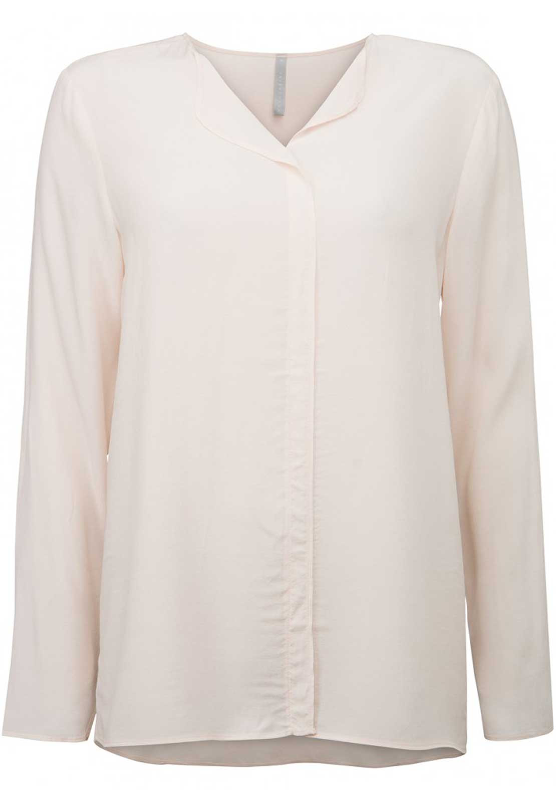 Yaya Long Sleeve Relaxed Fit Top, Pink