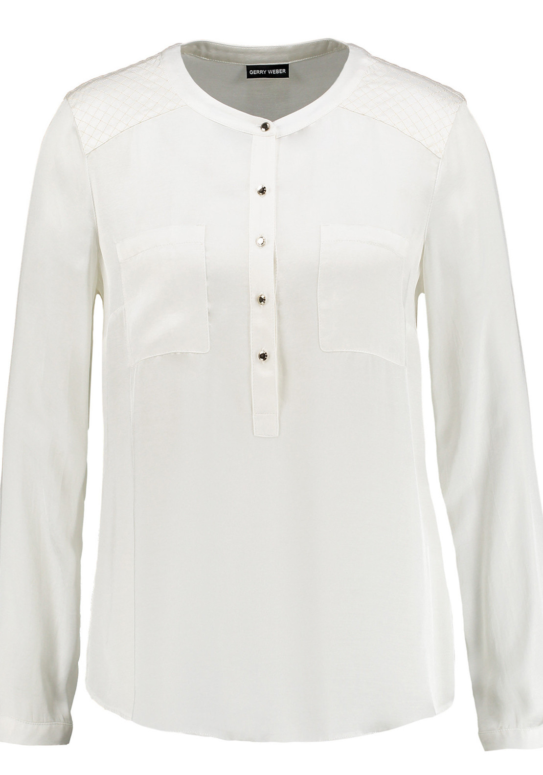 Gerry Weber Tunic Style Long Sleeve Blouse, Ivory