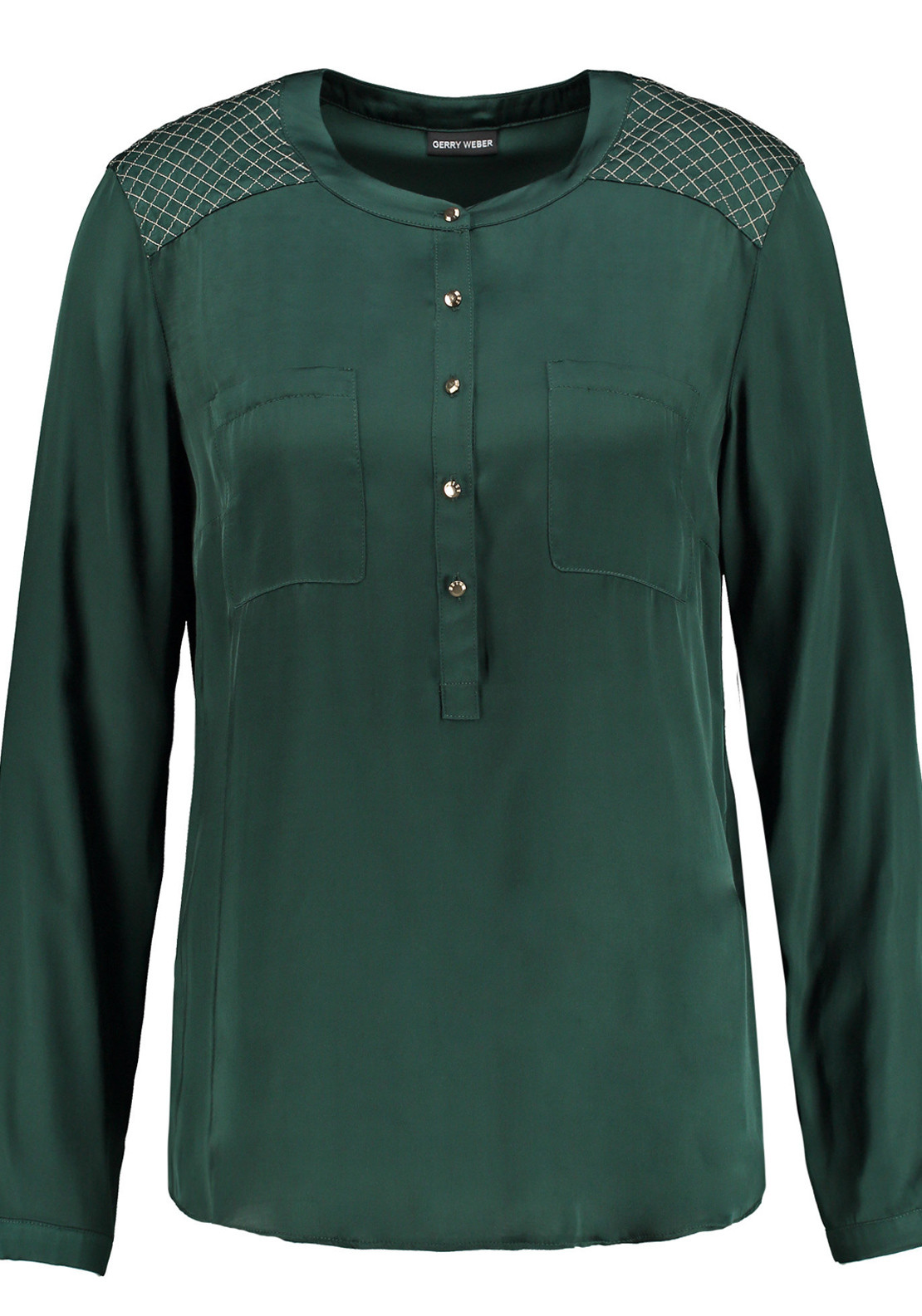 Gerry Weber Tunic Style Long Sleeve Blouse, Forest Green