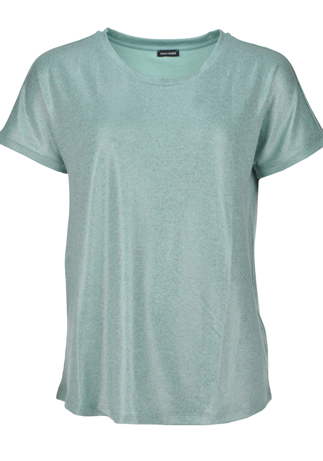 Gerry Weber Metallic Short Sleeve T-Shirt, Mint Green