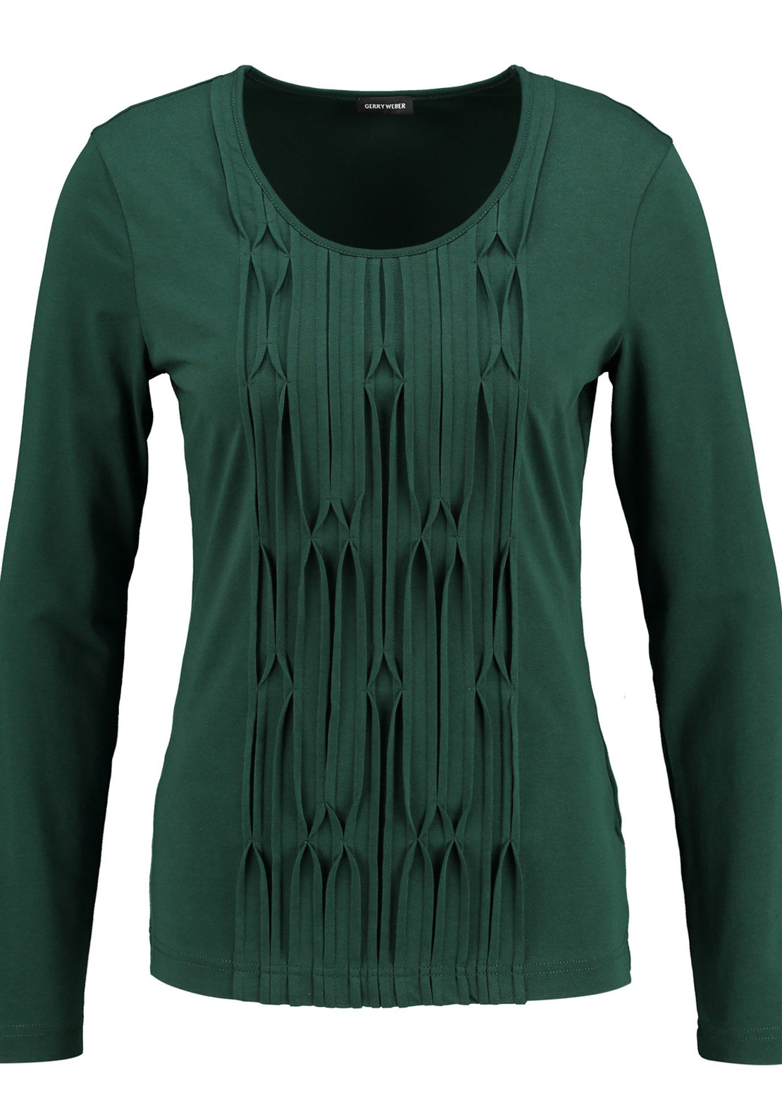 Gerry Weber Embossed Print Long Sleeve T-Shirt, Forest Green