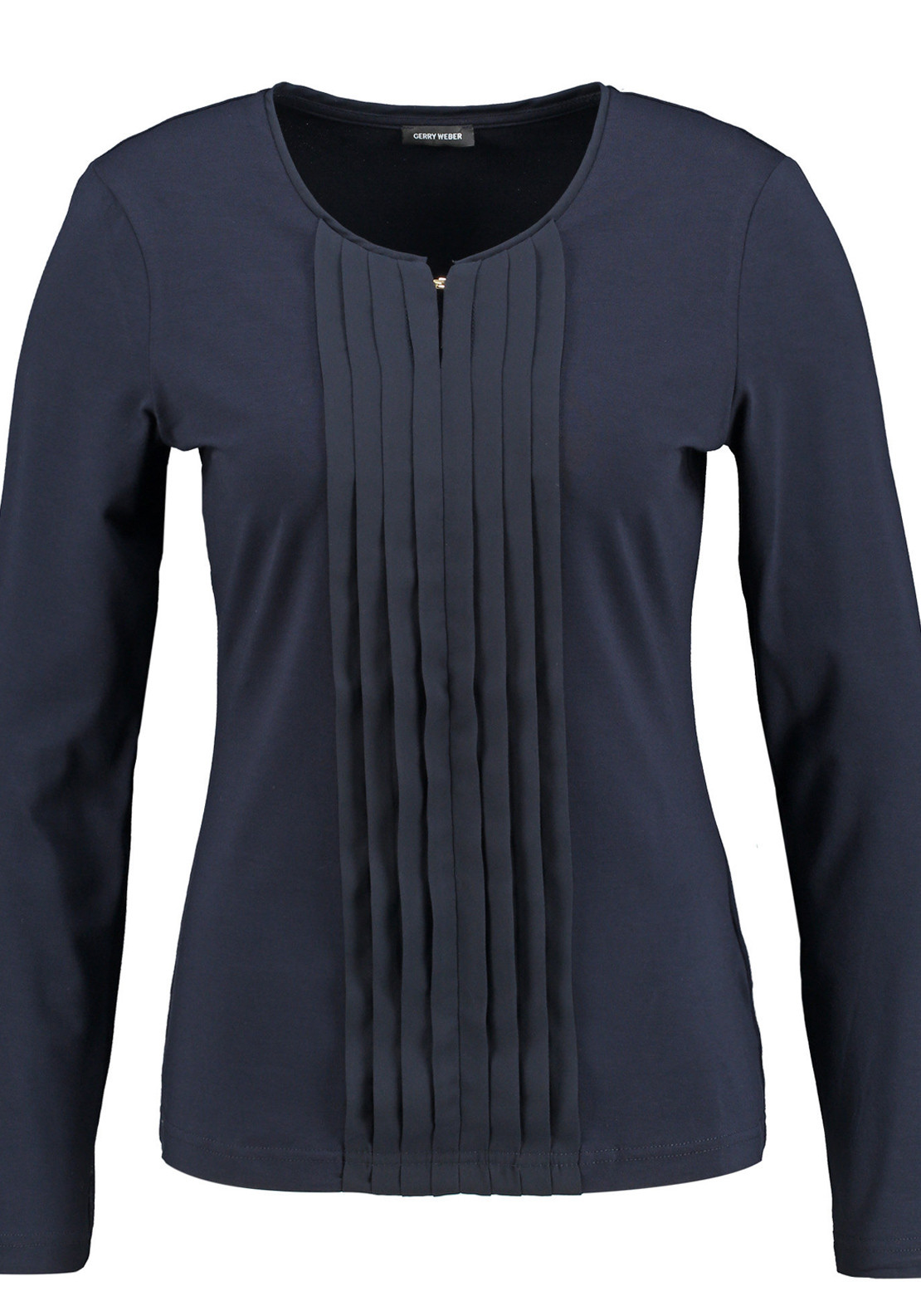 Gerry Weber Pleated Panel Long Sleeve T-Shirt, Navy