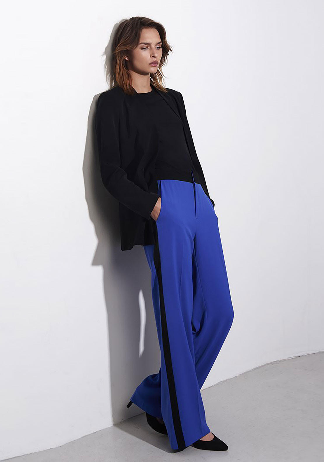 Inwear Cimmie Wide Leg Trousers Blue