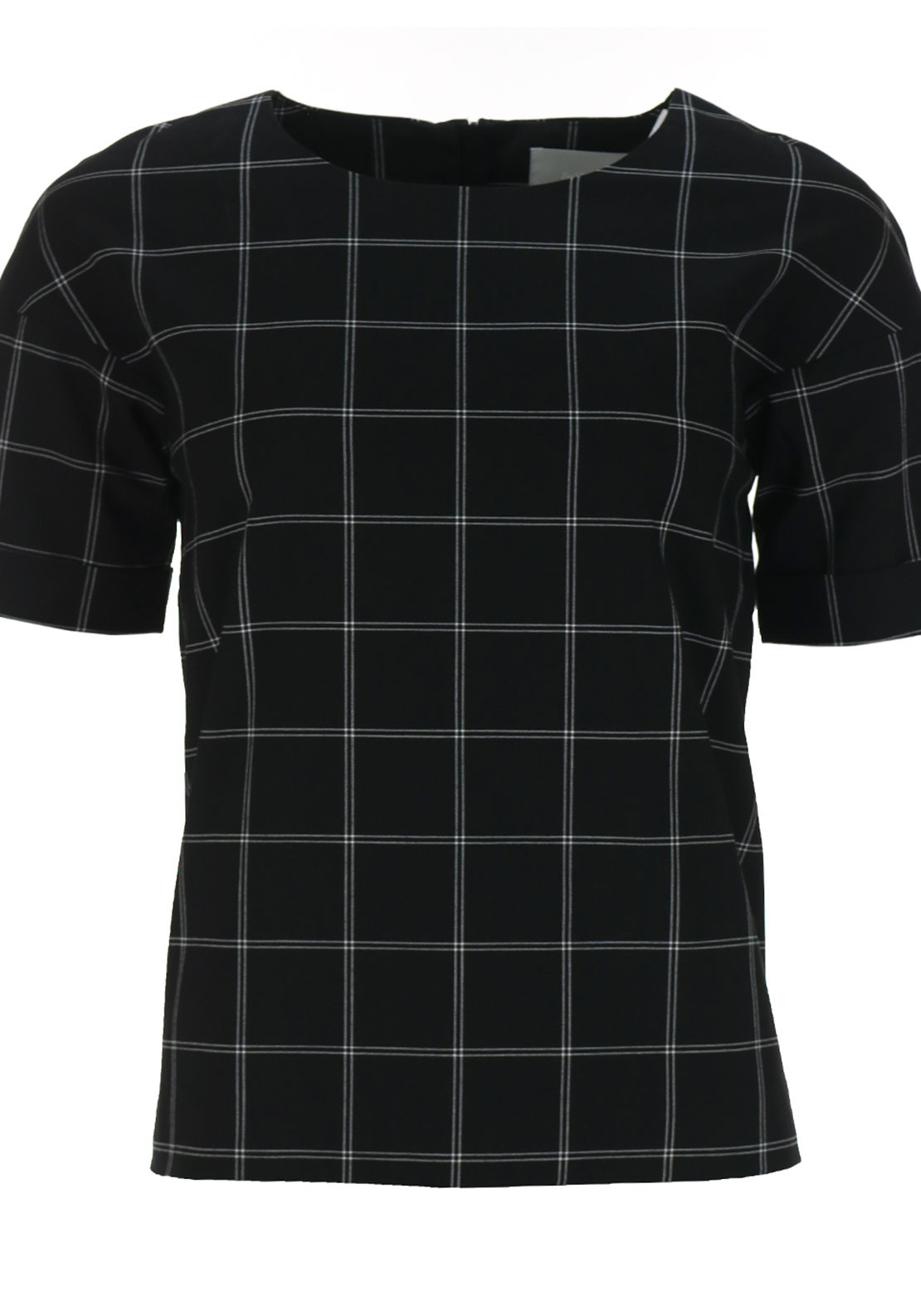 Inwear Check Print Blouse, Black and White
