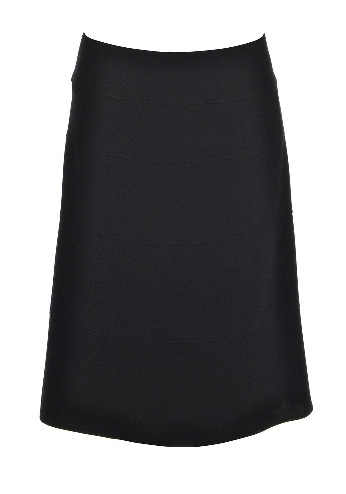 Gerry Weber Panelled A-Line Midi Skirt, Black
