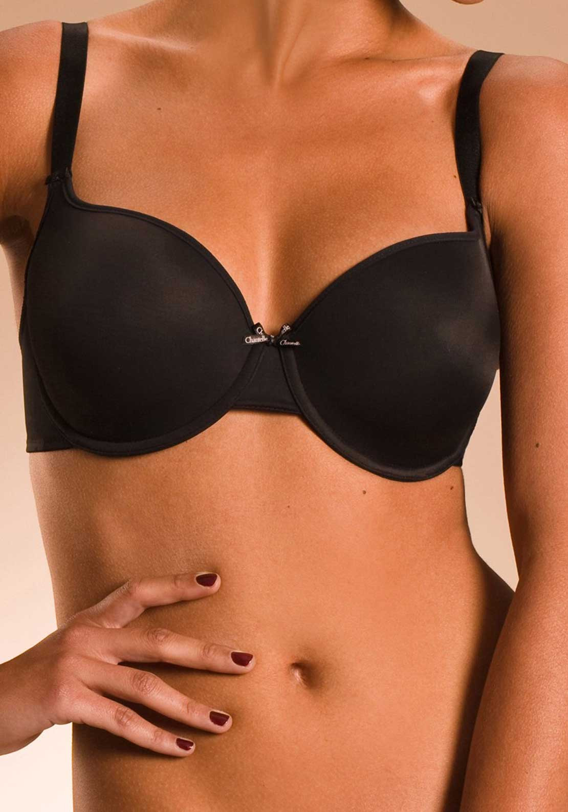 Chantelle Basic Invisible T-Shirt Bra, Black