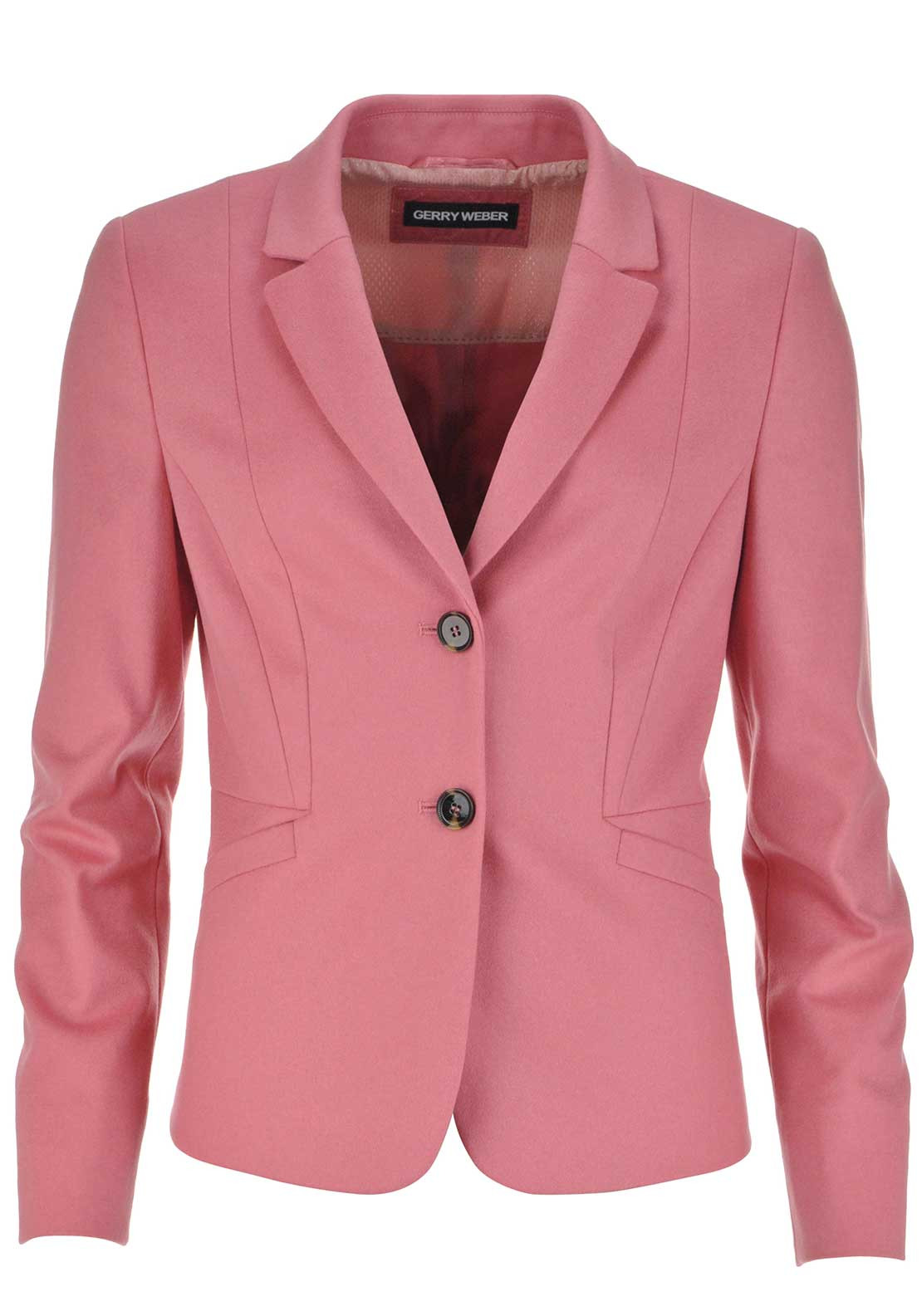 Gerry Weber Wool and Cashmere Blazer Jacket, Salmon Pink