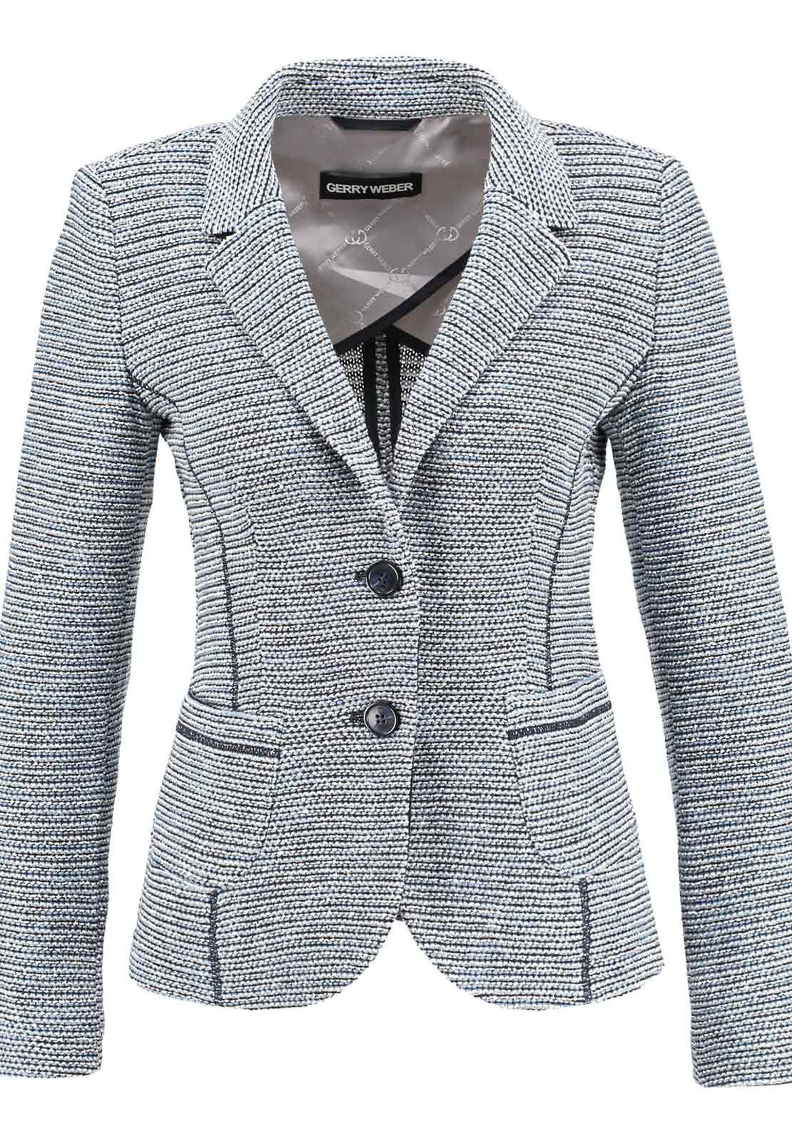 Gerry Weber Boucle Blazer Jacket, Blue