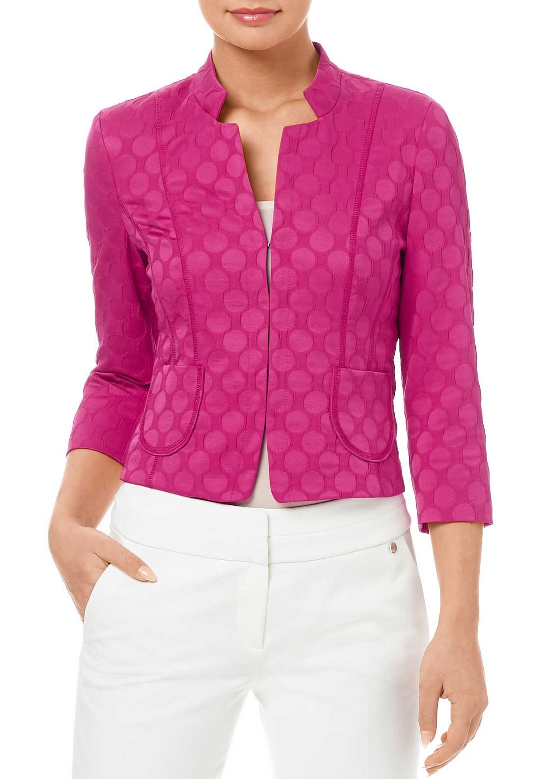Gerry Weber Circle Print Jacket, Pink