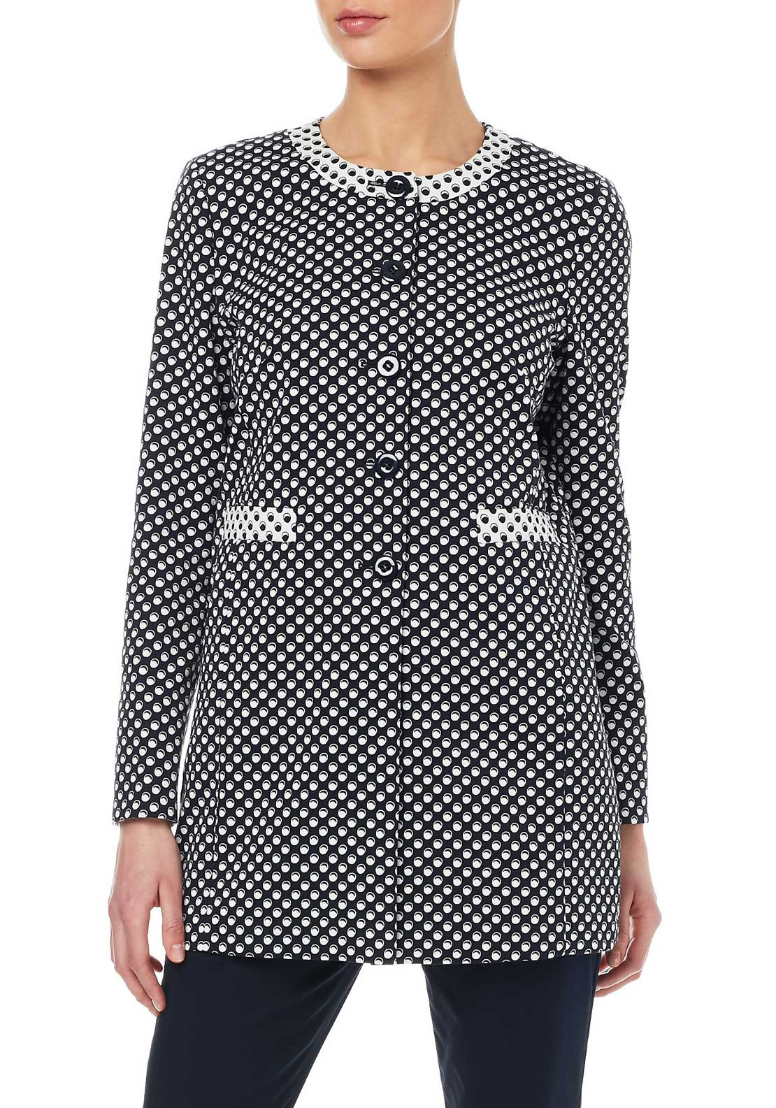 Gerry Weber Circle Print Jacket, Black & White
