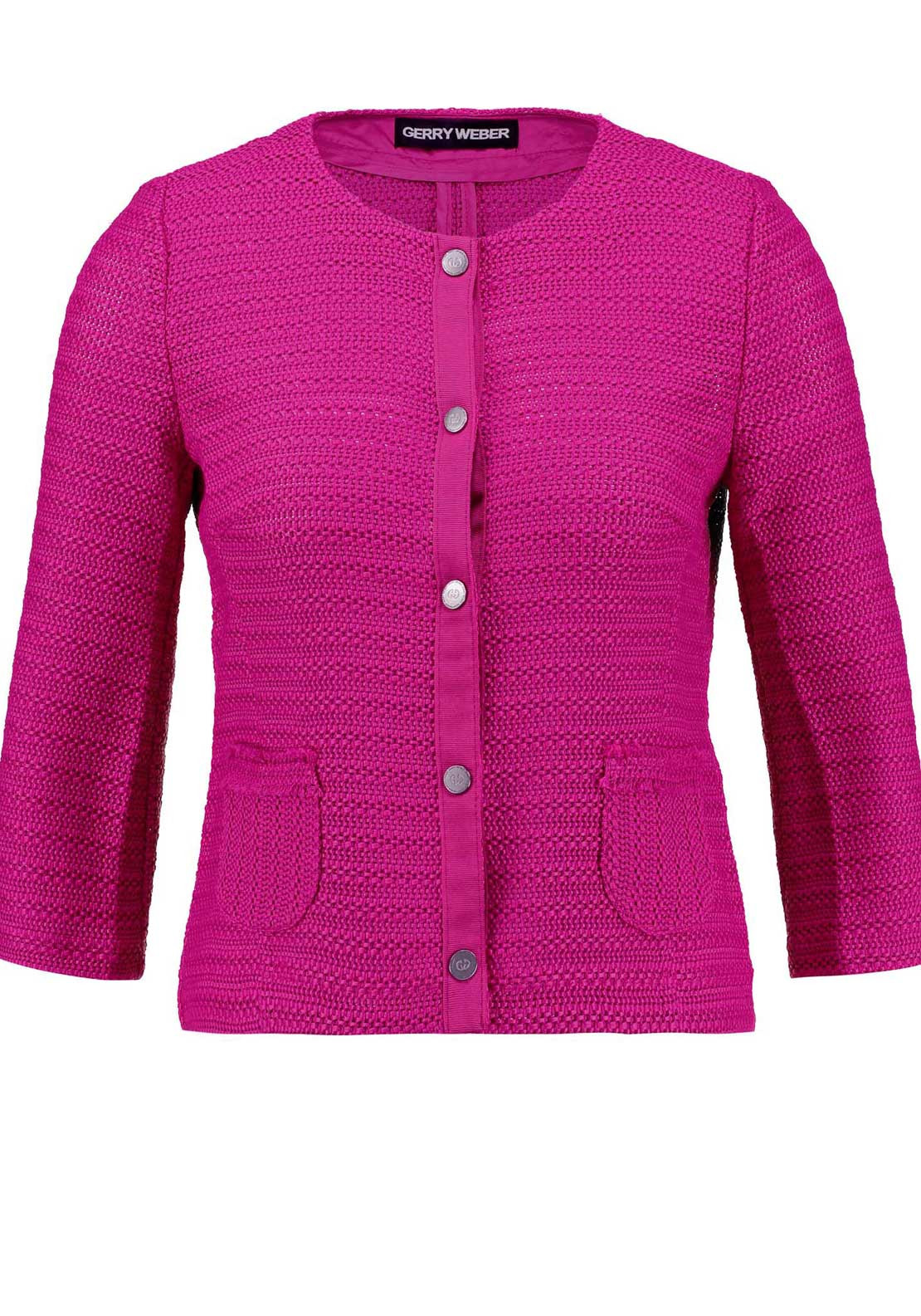 Gerry Weber Embossed Knit Jacket, Pink