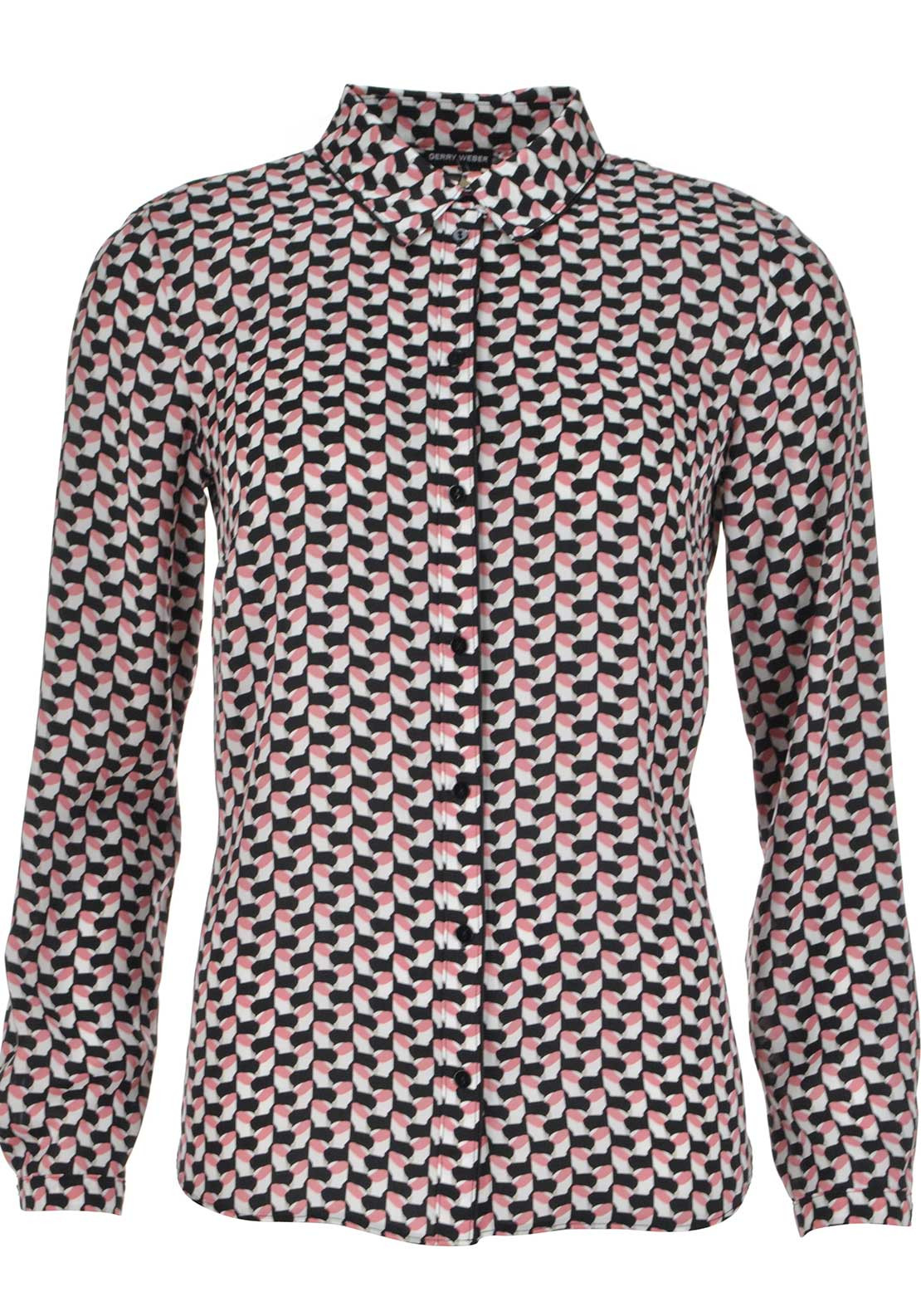 Gerry Weber Geometric Print Long Sleeve Blouse, Multi-Coloured