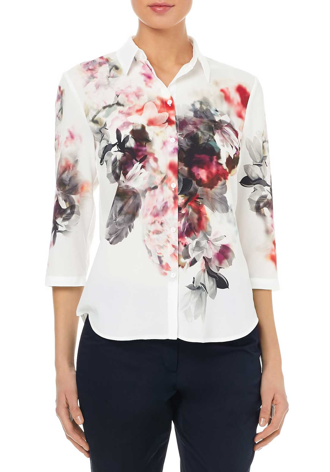 Gerry Weber Floral Print Blouse, Multi-Coloured