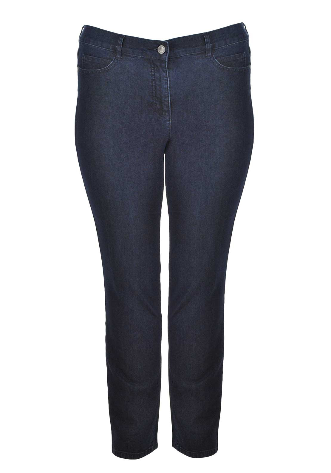 Lebek Straight Leg Jeans, Dark Blue Denim