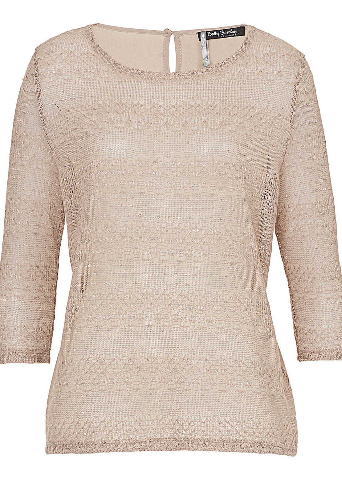 Betty Barclay Semi Sheer Cobweb Knit Top, Beige