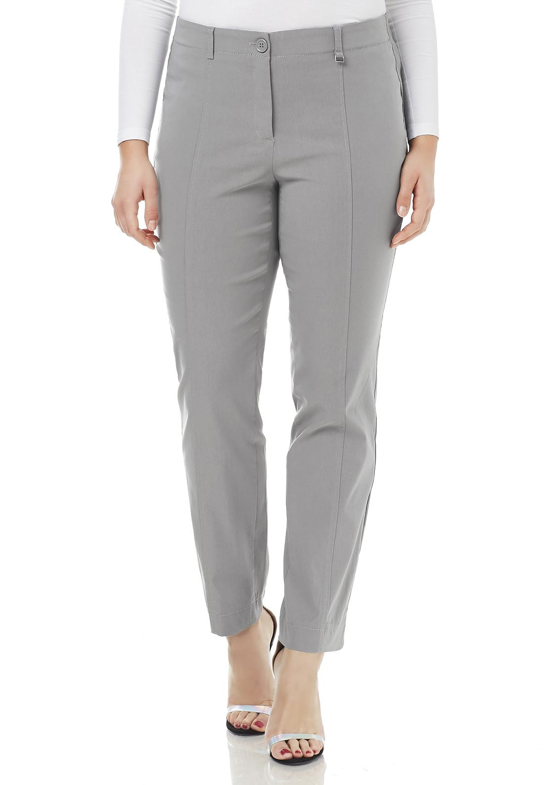 Samoon Betty Super Stretch Slim Fit Trousers, Grey