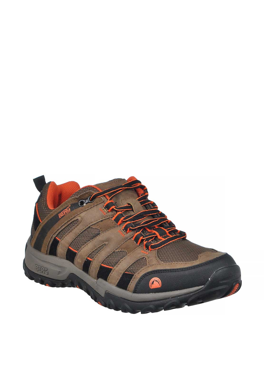 Berg Outdoor Mens Elements Meerkat Lace Up Trainer, Brown Multi