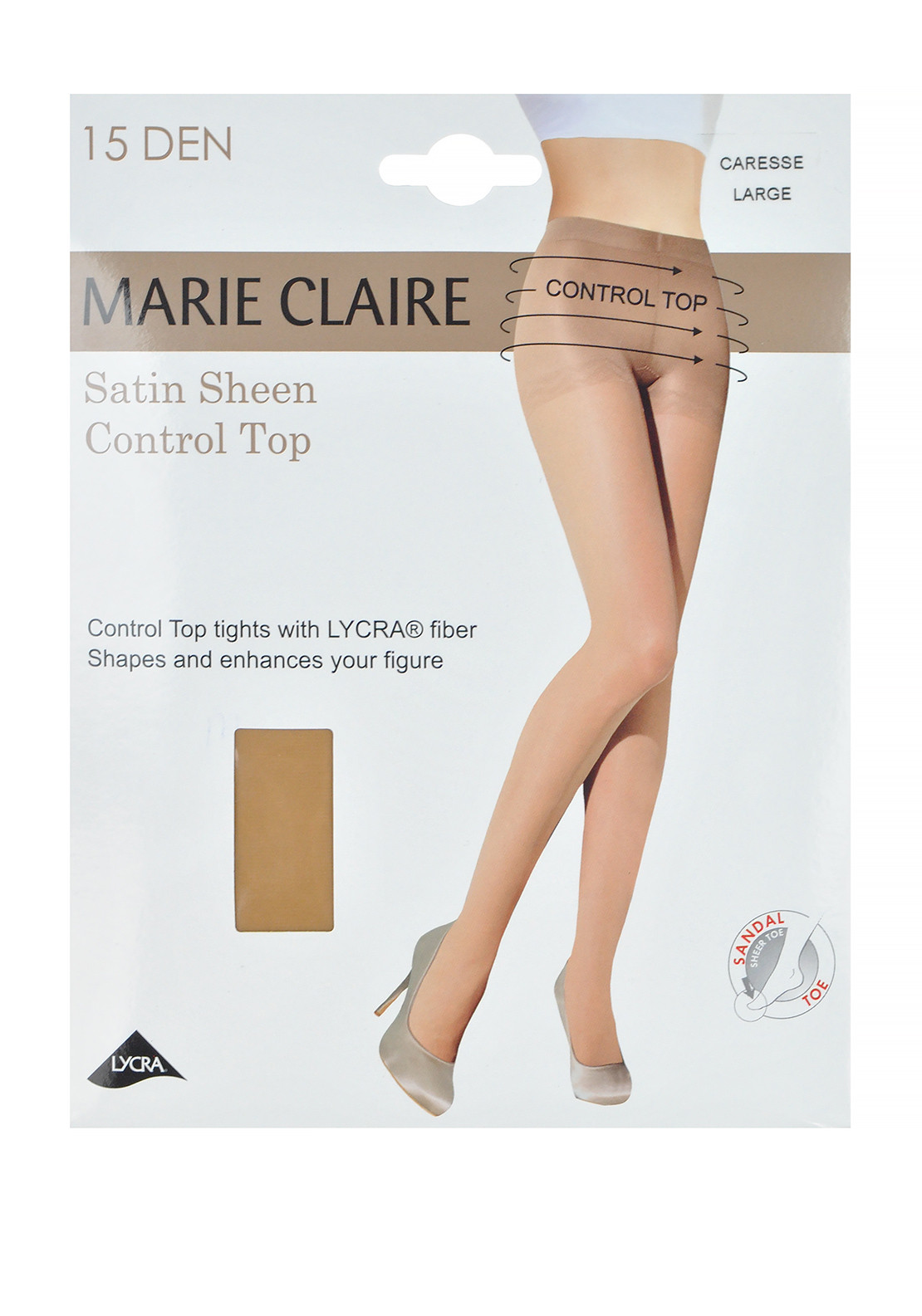 Marie Claire 15 Denier Control Top Satin Sheen Tights, Caresse