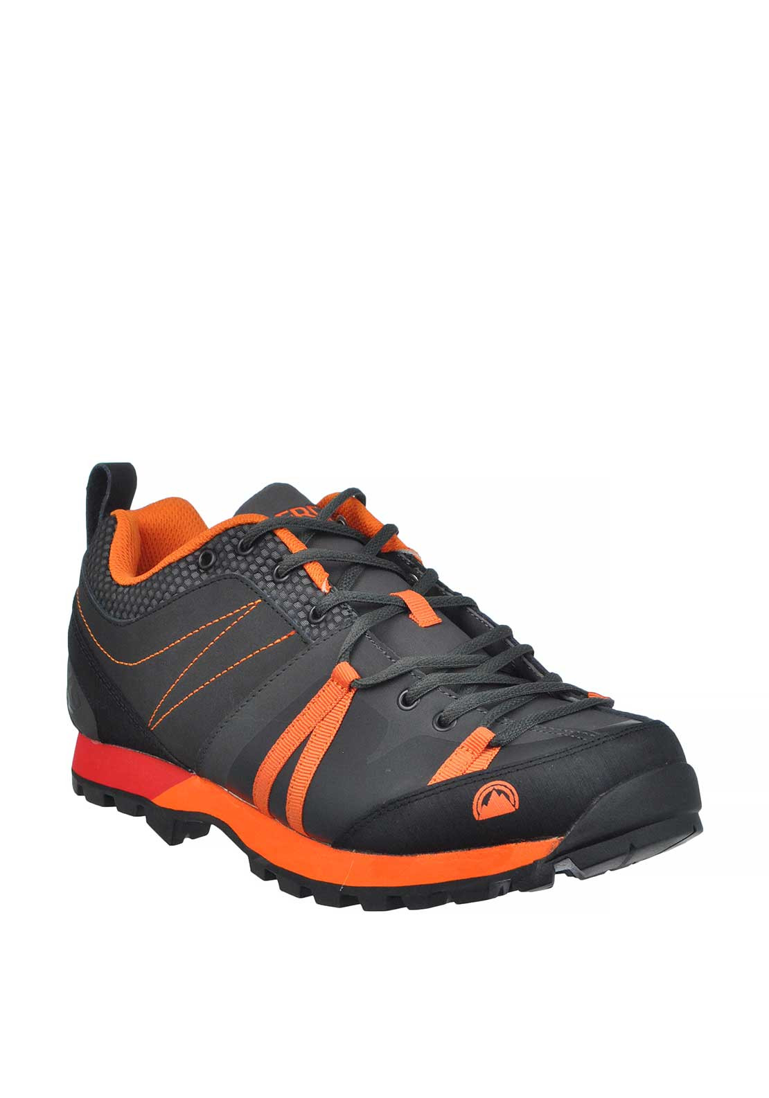 Berg Outdoor Mens Babirusa Lace Up Trainer, Grey and Orange