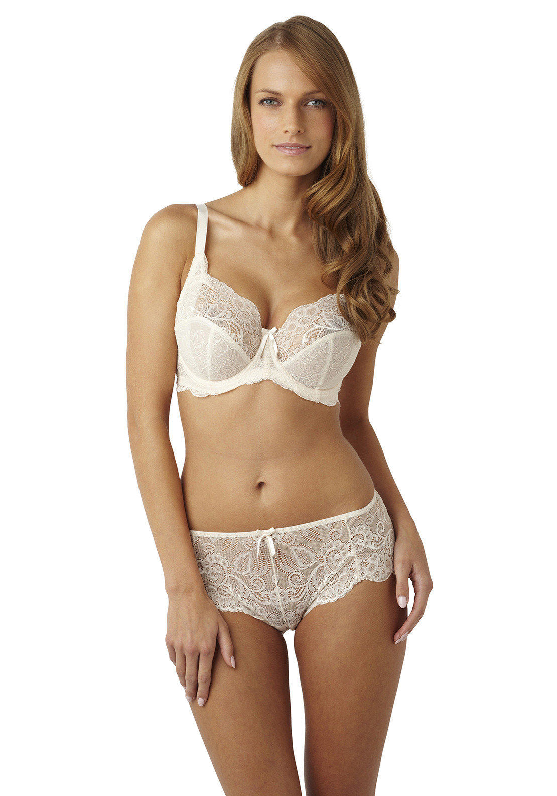 Panache Andorra Lace Shorty Briefs, Pearl
