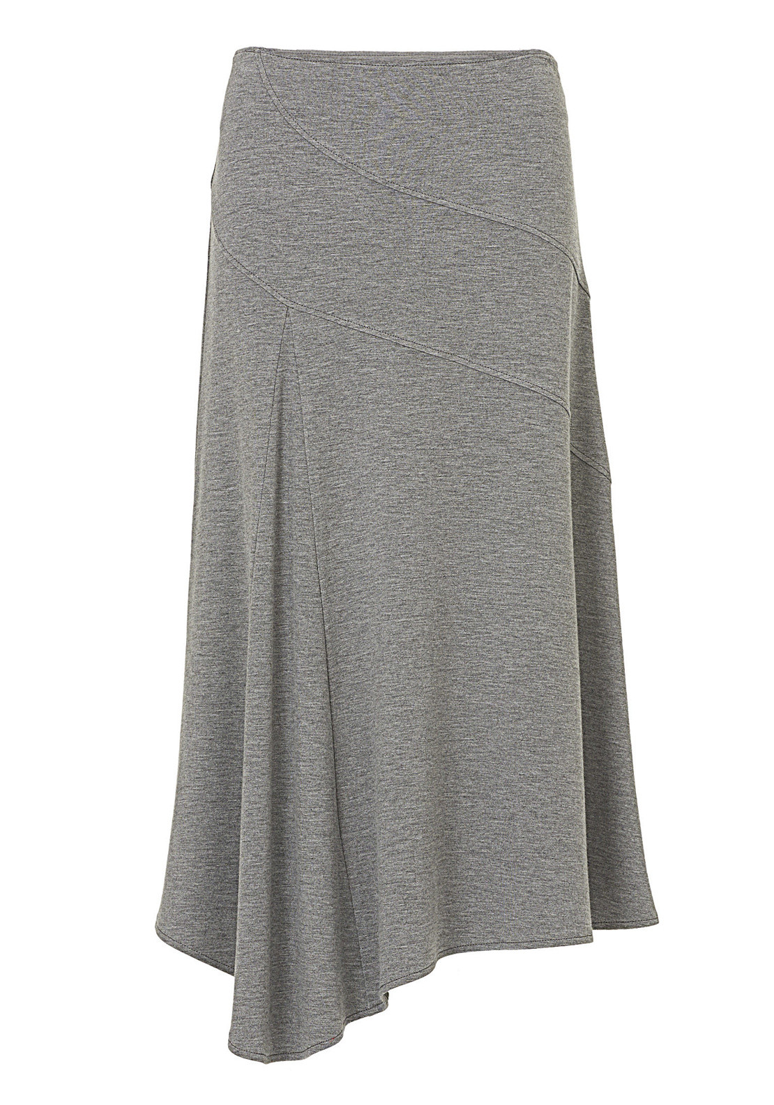 Betty Barclay Asymmetric Hem Jersey Midi Skirt, Grey