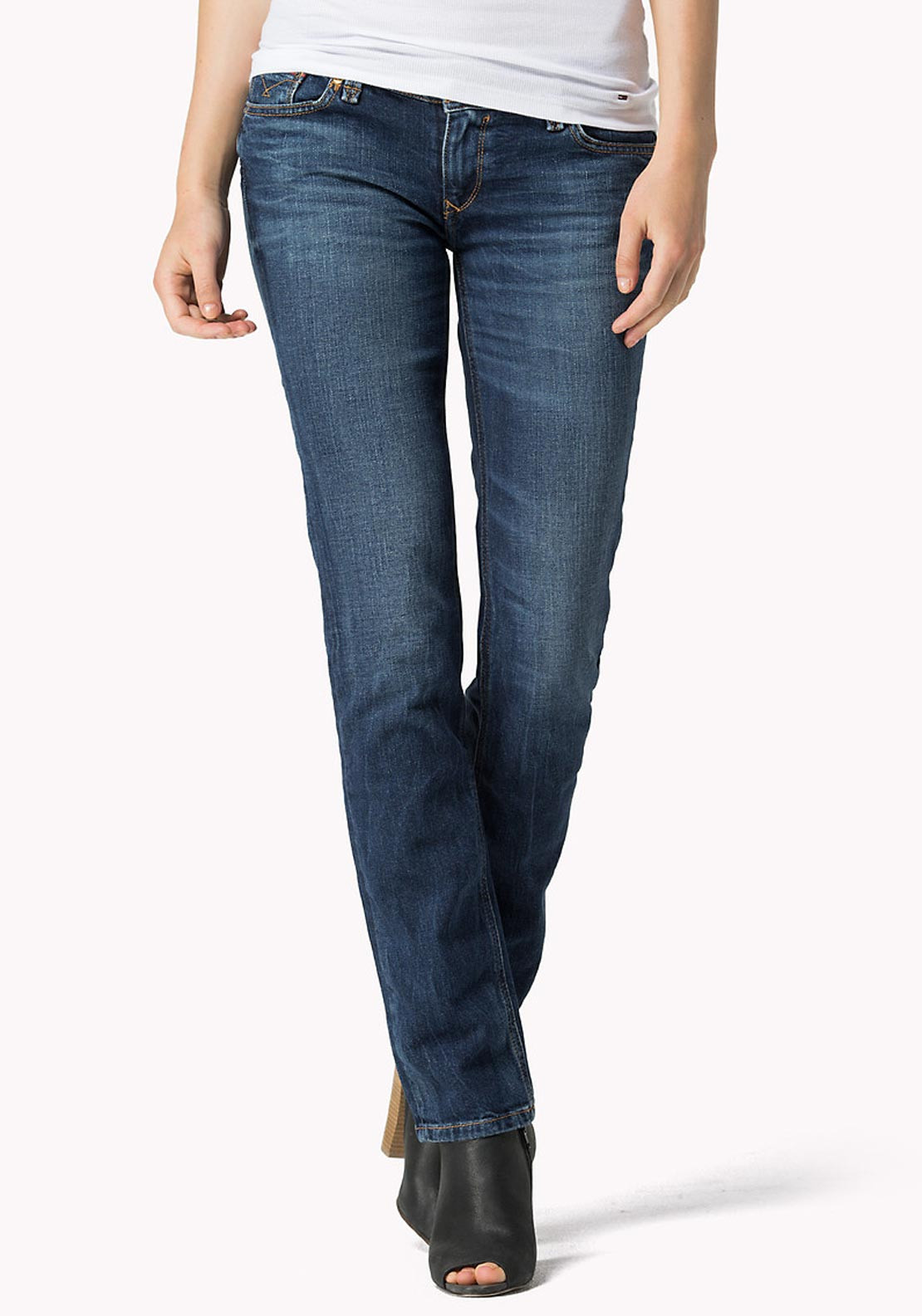 Tommy Hilfiger Womens Suzzy Straight Leg Jeans, Blue