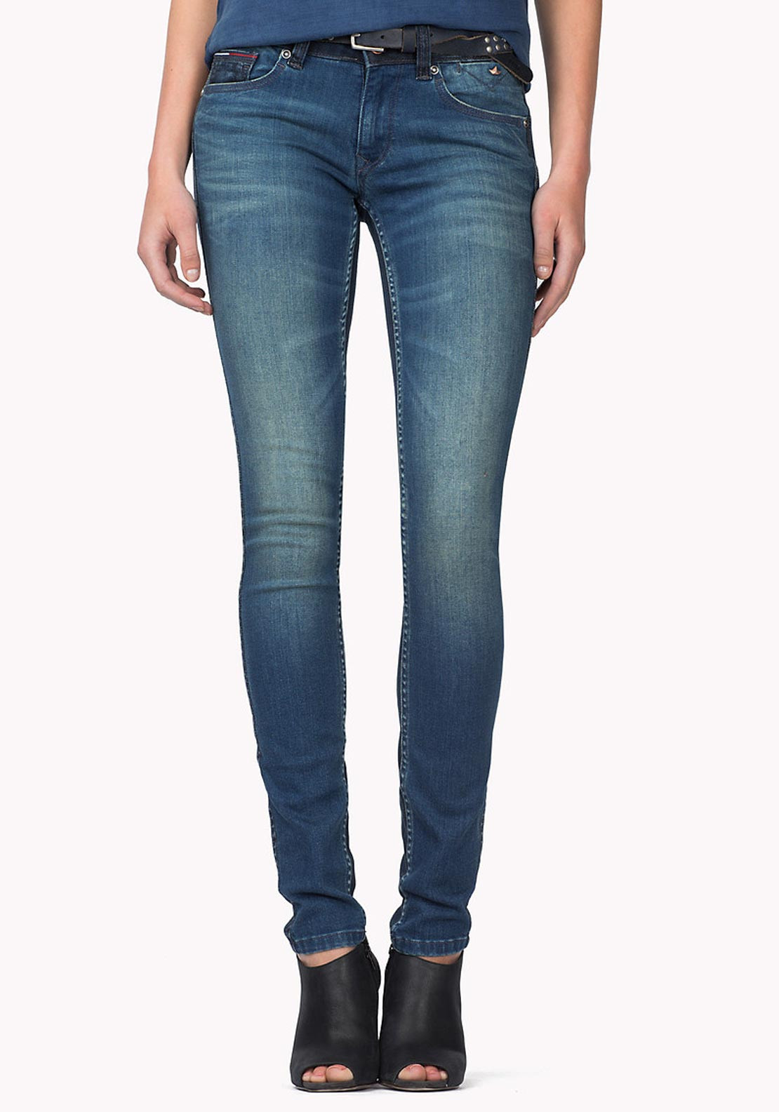 really cheap classic fit coupon code Tommy Hilfiger Womens Sophie Skinny Jeans, Dark Denim