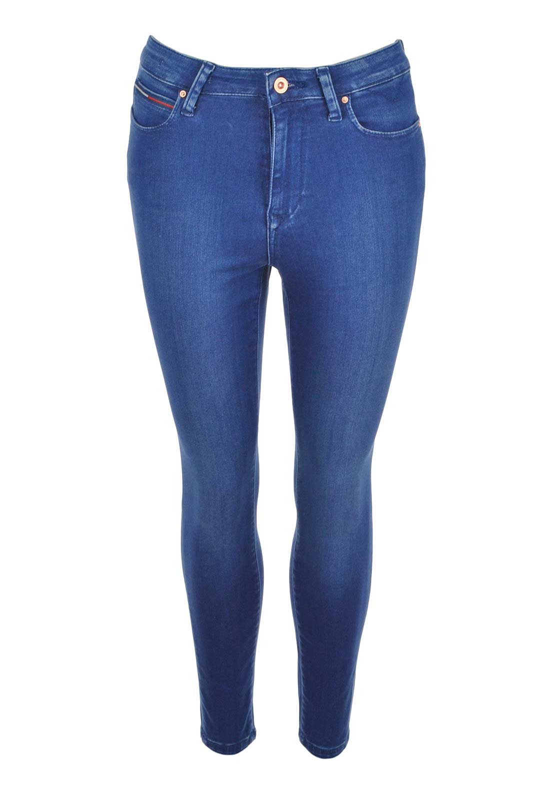 Tommy Hilfiger Womens Skye High Waist Skinny Jeans, Blue Denim