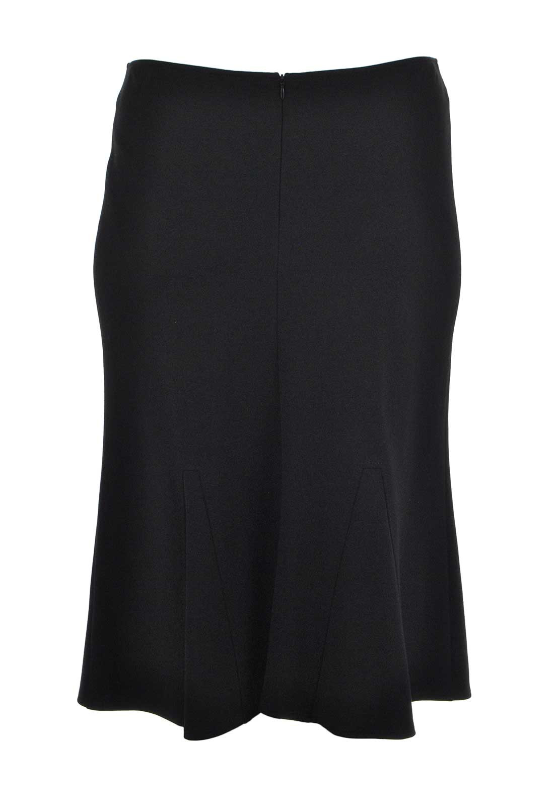Frank Walder Flared Jersey Midi Skirt, Black