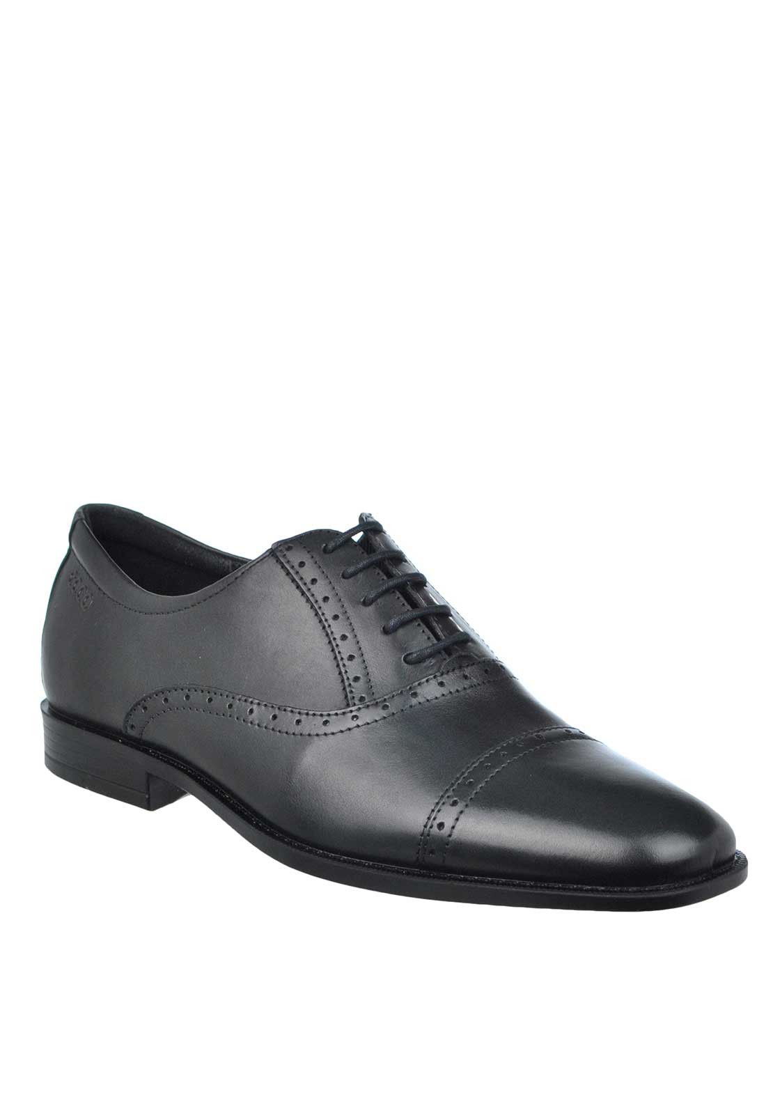 ECCO Mens Edinburgh Leather Brogue Lace Up Shoe, Black