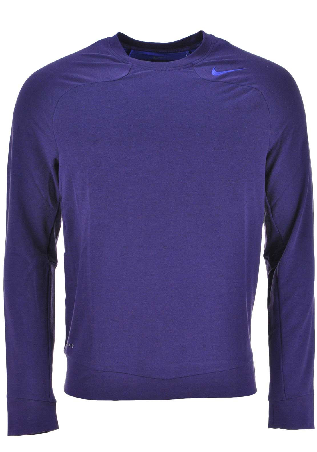 Nike Mens Dri-Fit Touch Fleece Crew Neck Training Top, Persian Violet