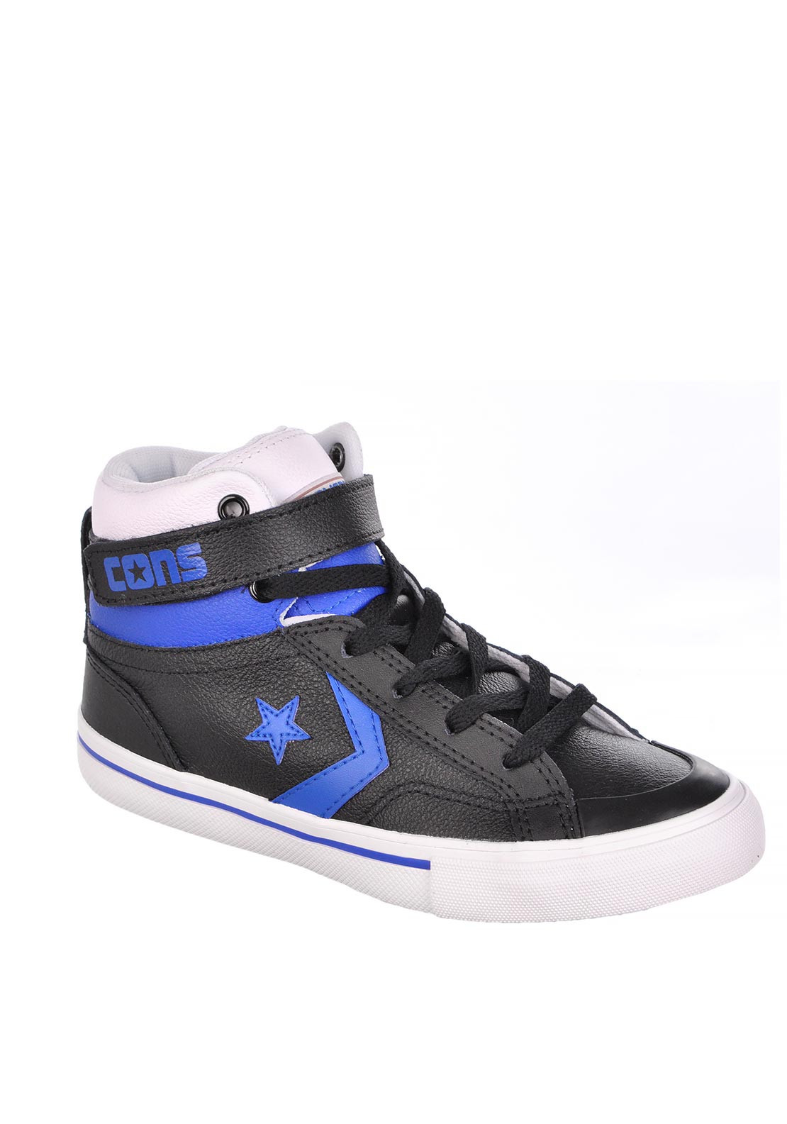Converse Boys Leather Hi Top Trainer, Black