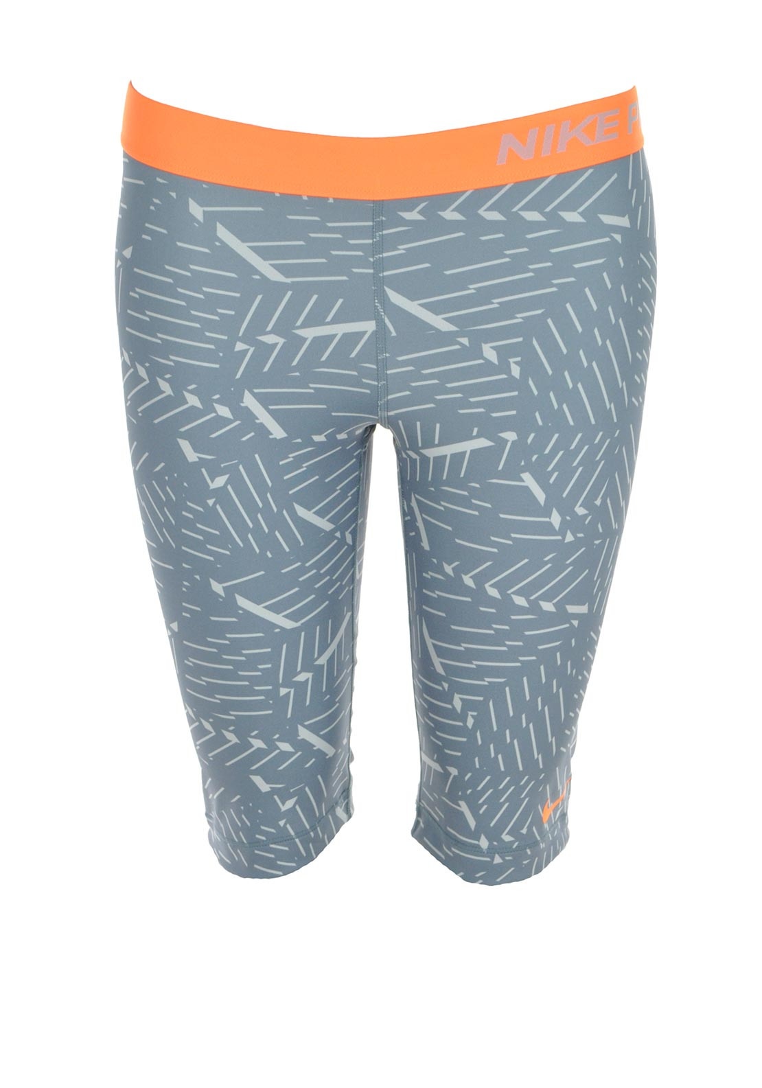 Nike Womens Pro Bash Printed Shorts, Grey