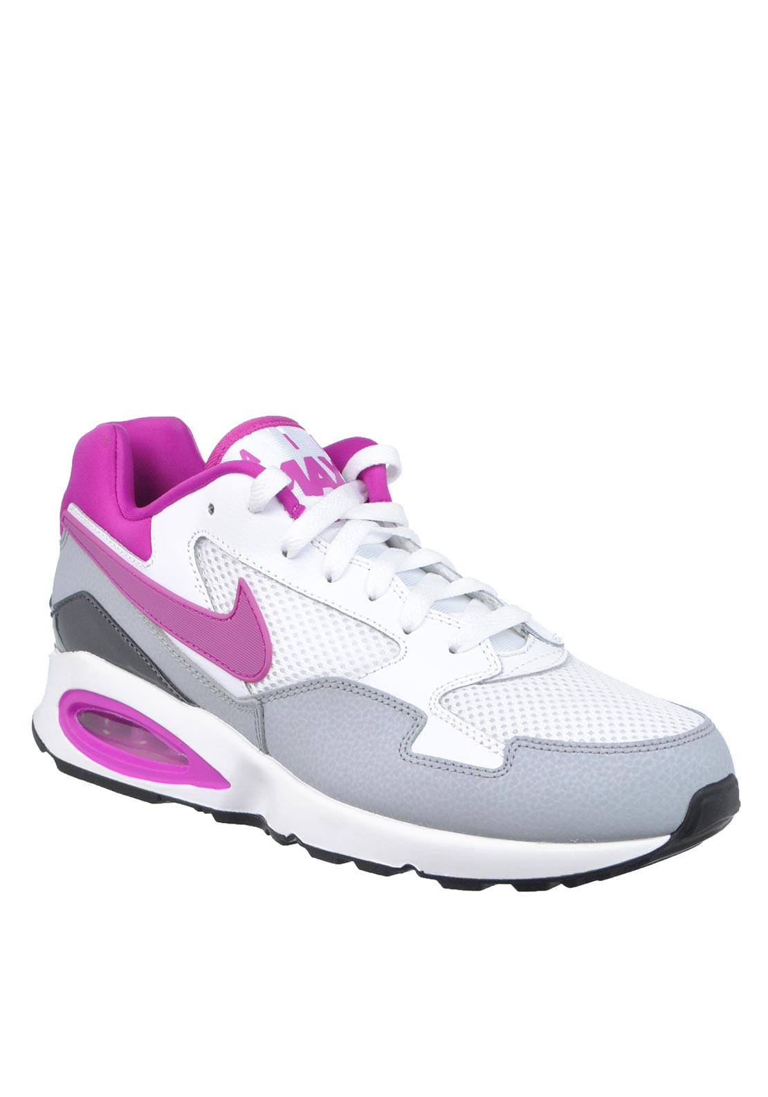 Nike Womens Air Max ST Trainer, White and Purple