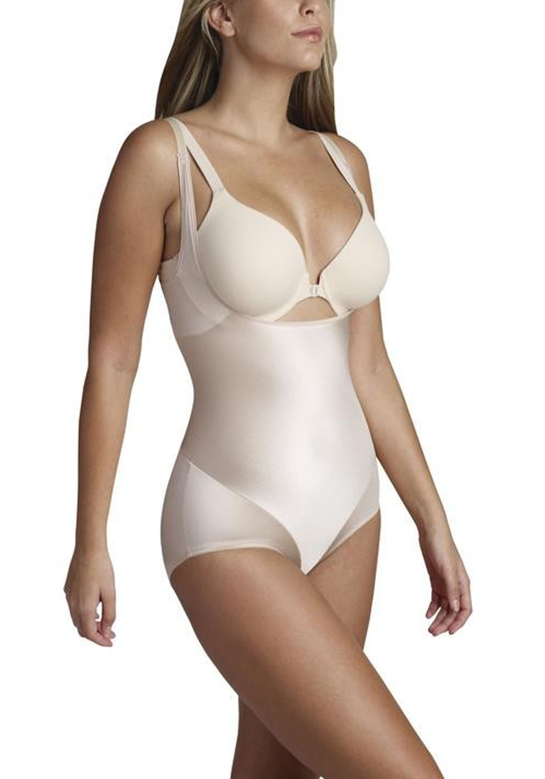 Naomi and Nicole Smooth Away Torsette Bodybriefer, Nude