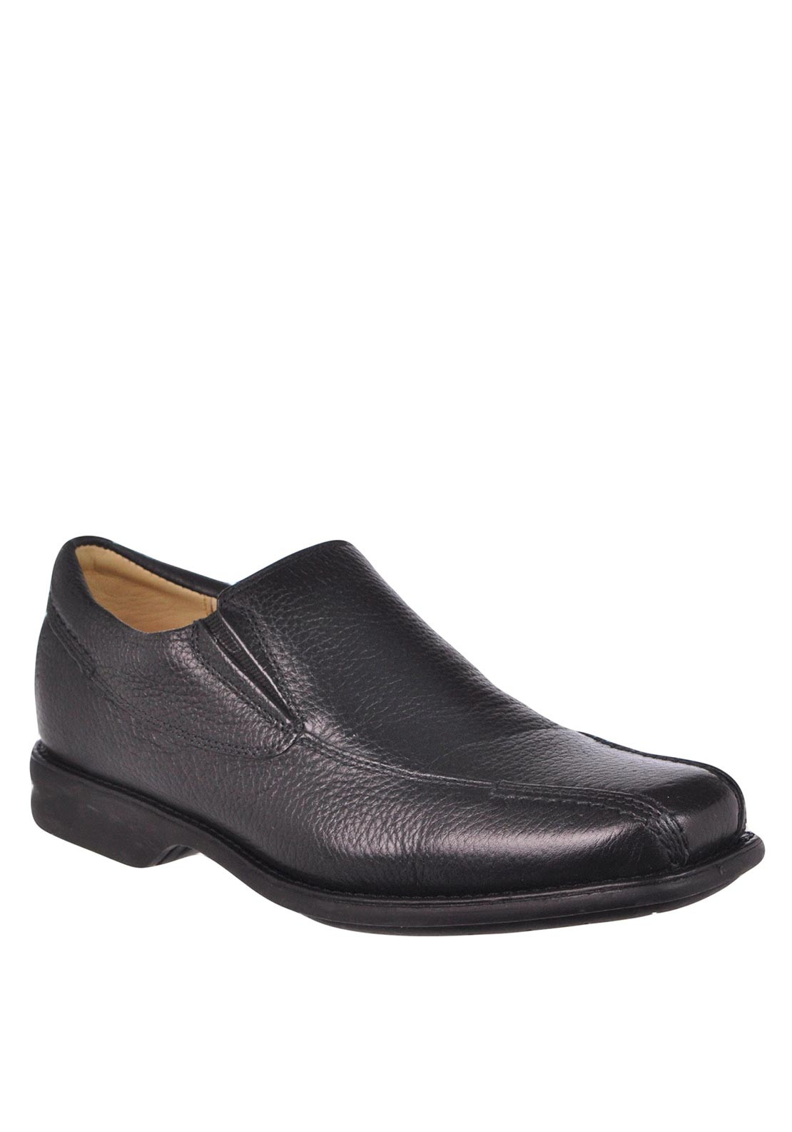 Anatomic & Co Mens Belem Leather Slip-On Shoe, Black