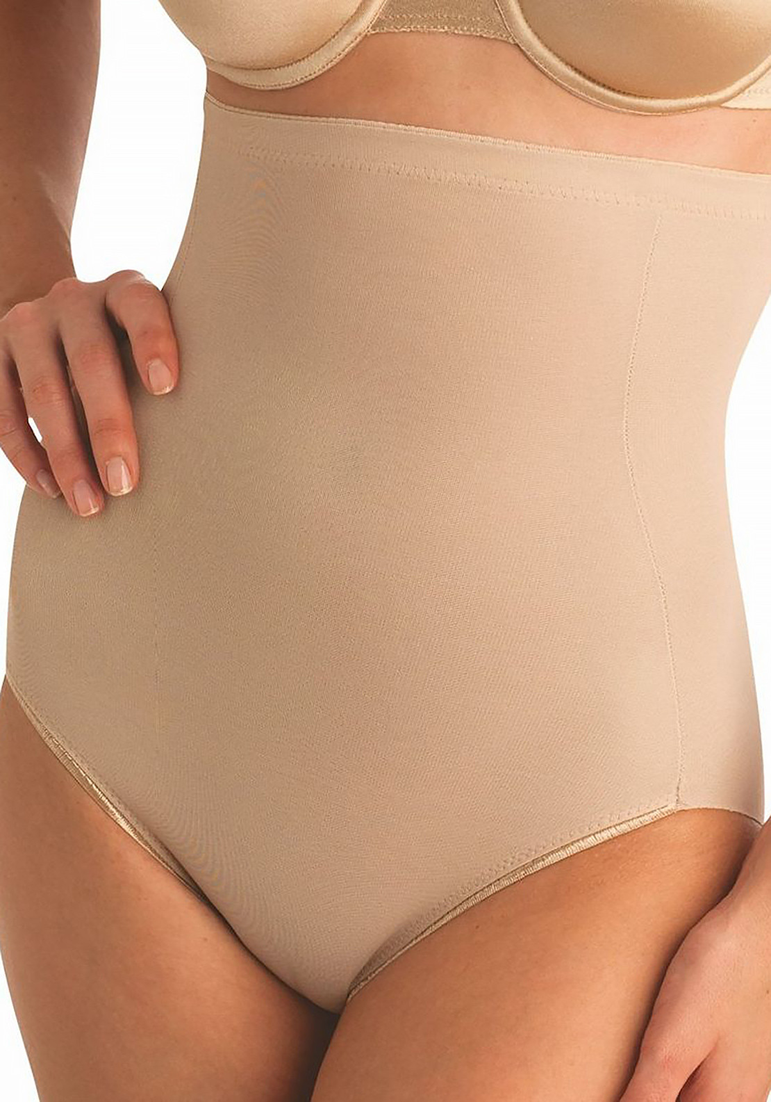 Naomi and Nicole High Waist Control Brief, Nude