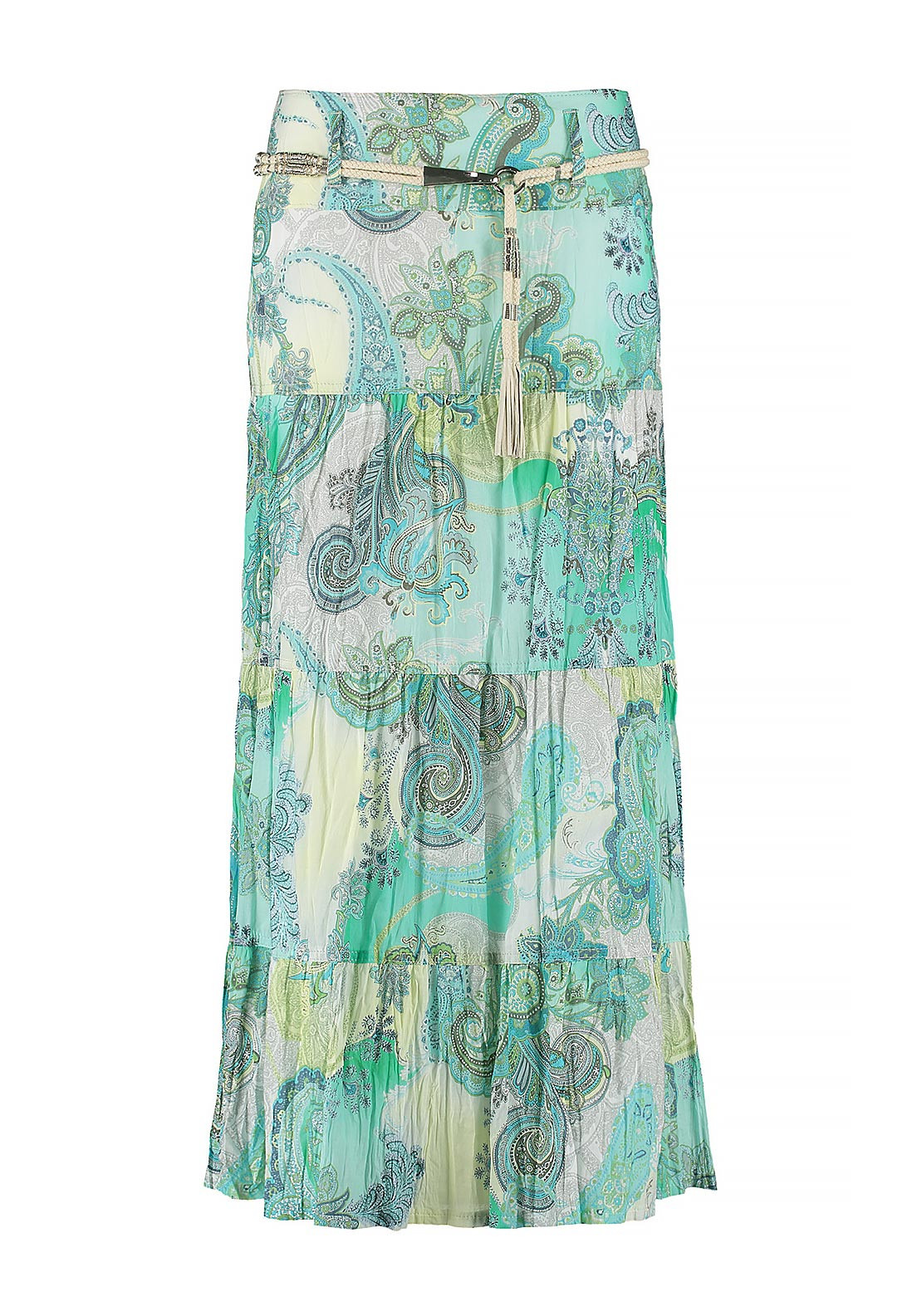 Gerry Weber Printed Pleated Long Skirt, Green
