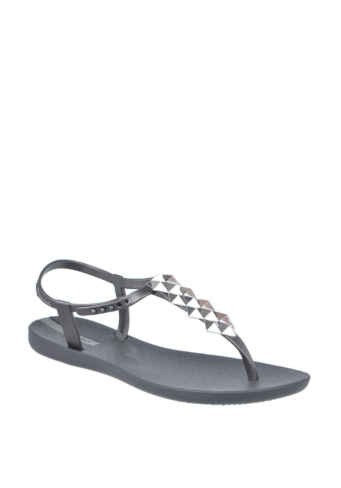 Ipanema Stud Embellished Toe Thong Sandals, Grey