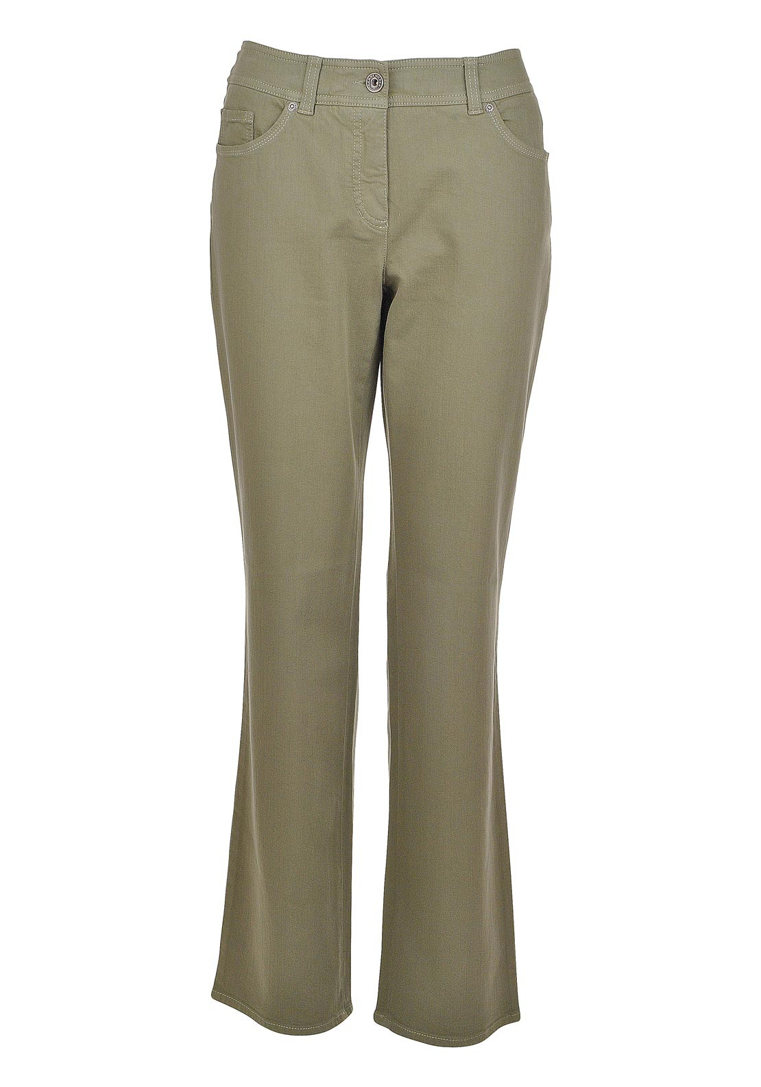 Gerry Weber Danny Wide Leg Jeans, Olive Green