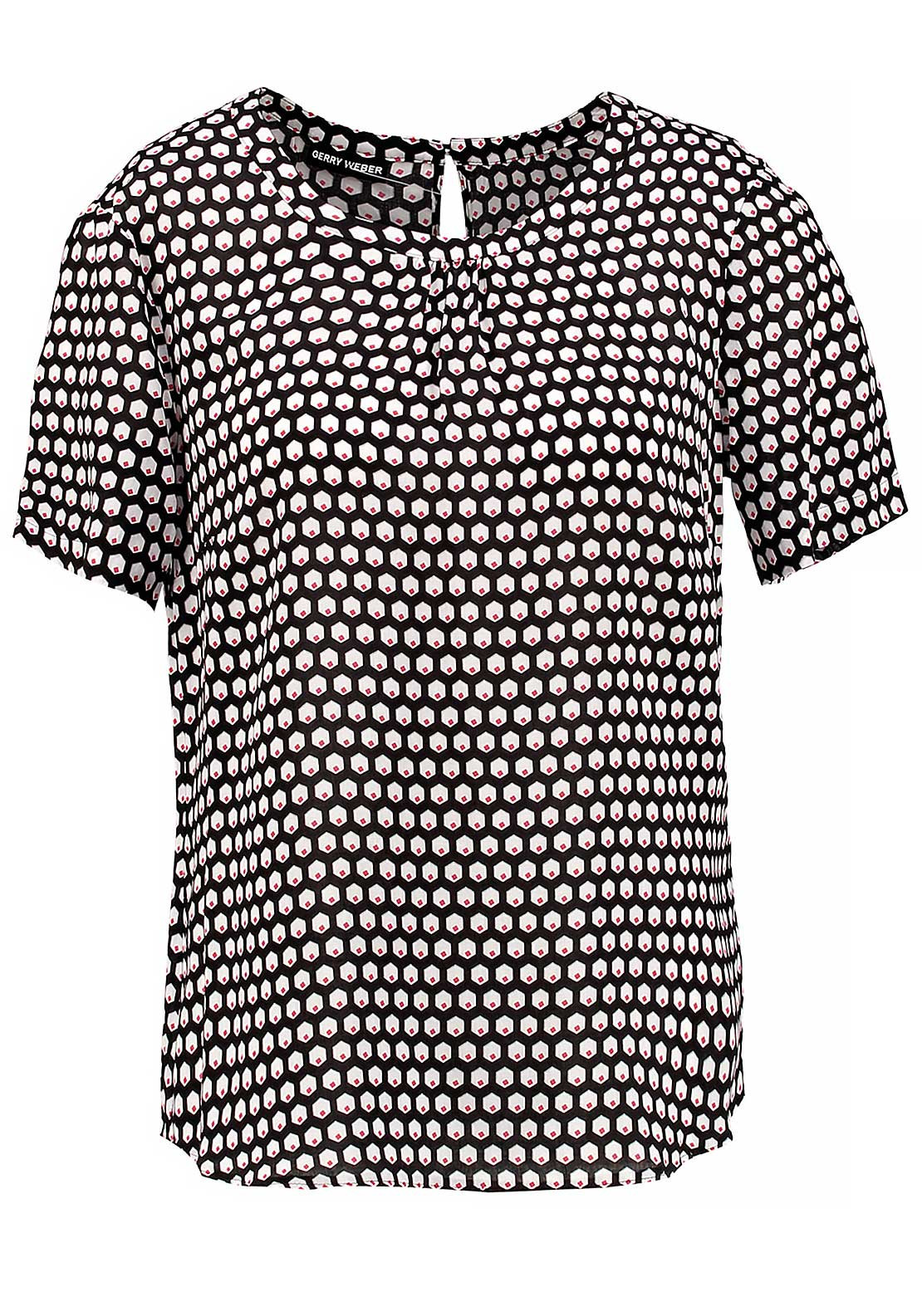 Gerry Weber Short Sleeve Graphic Print Top, Black