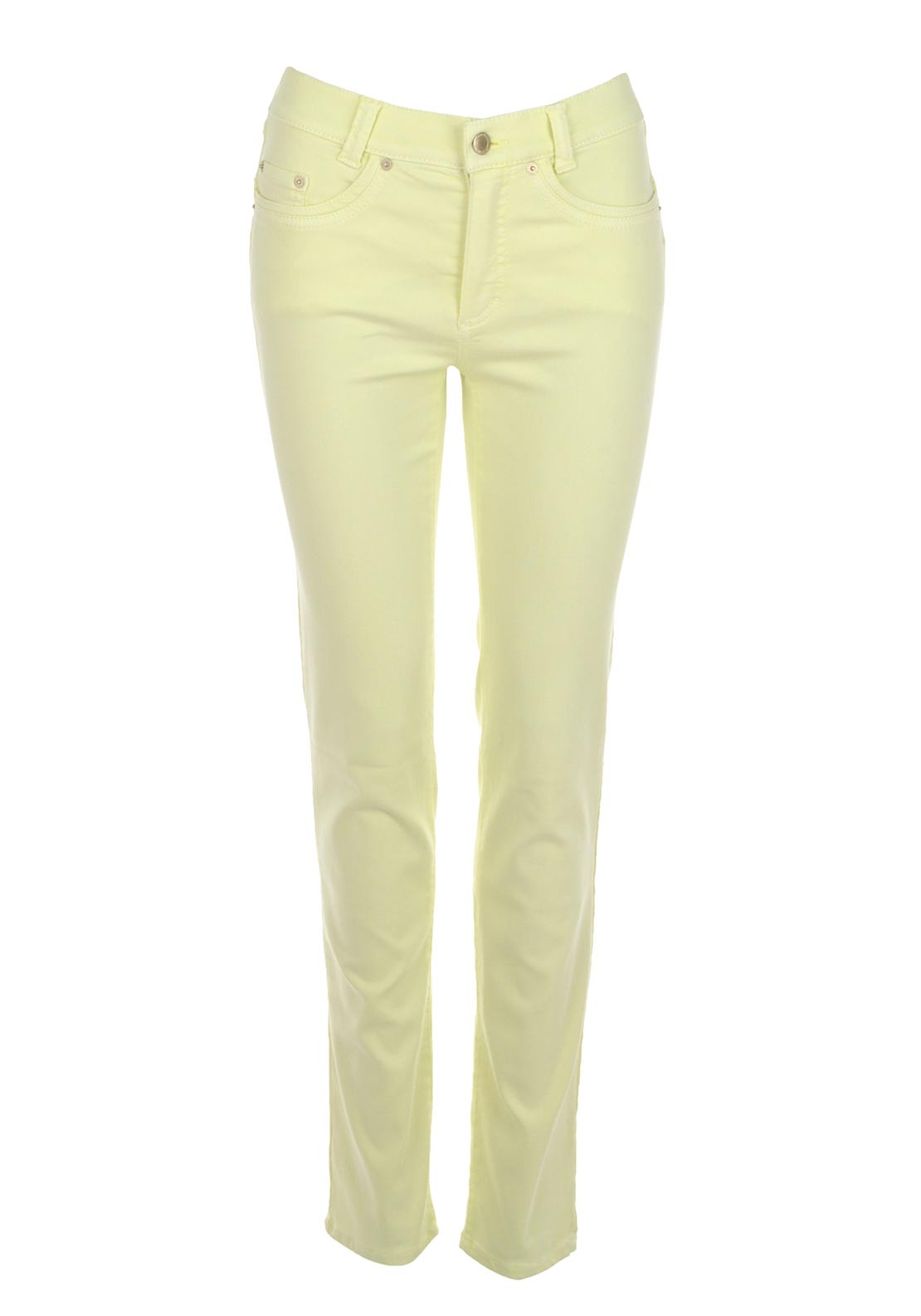 Anna Montana Angelika Super Stretch Slim Leg Jeans, Lemon Yellow